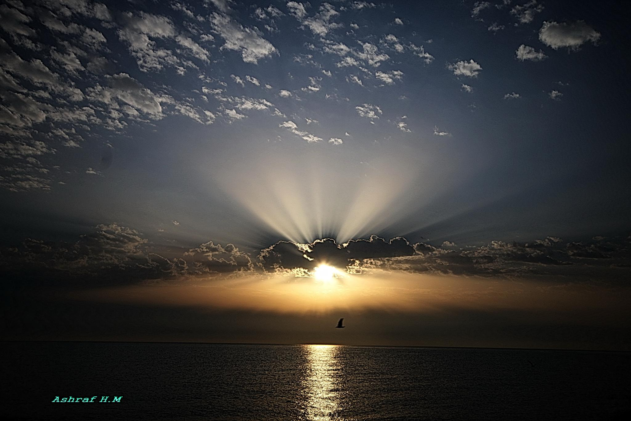 sun and the sea by Ashraf Hassanein