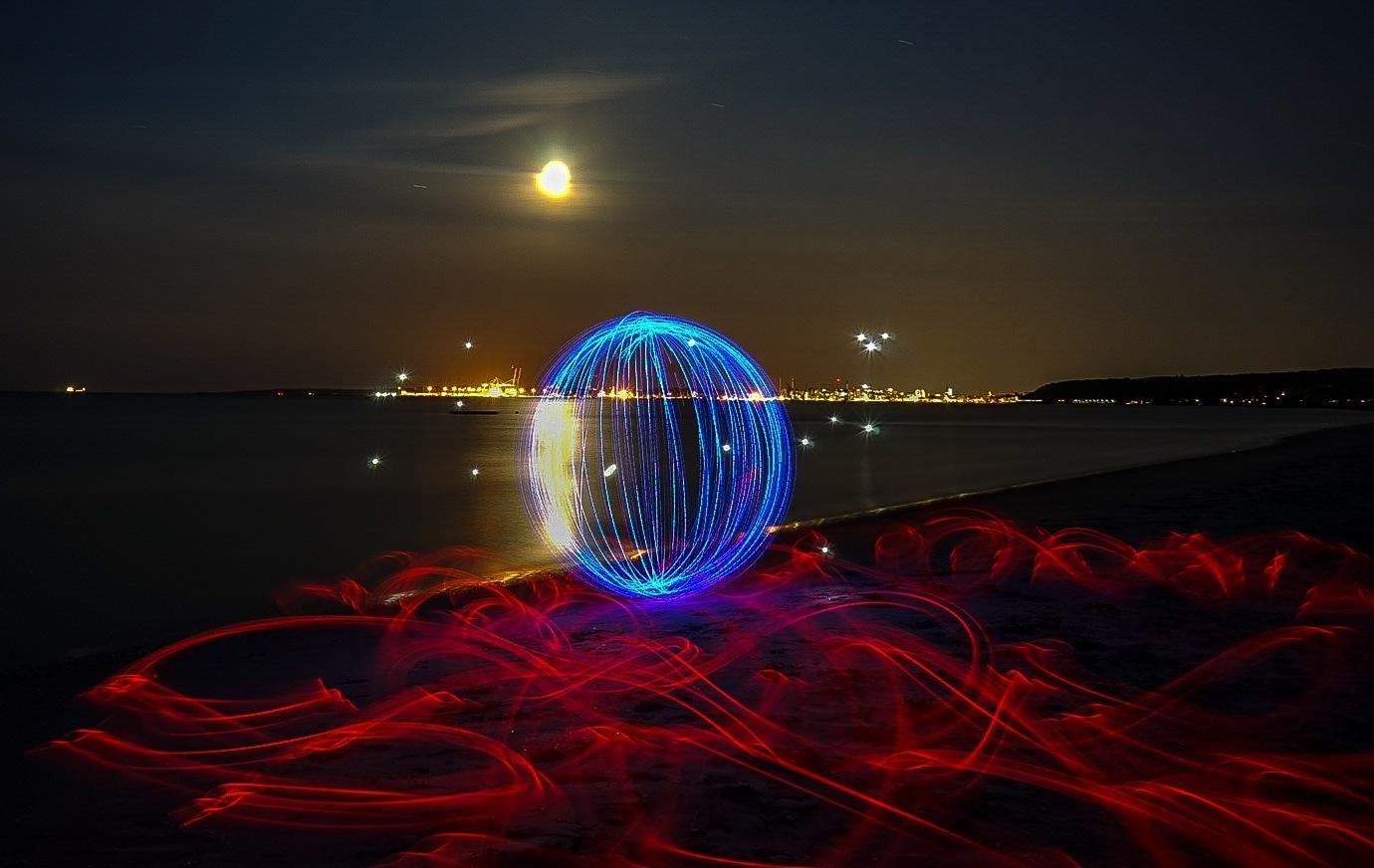 beach lightpainting  by Peter Skouenborg