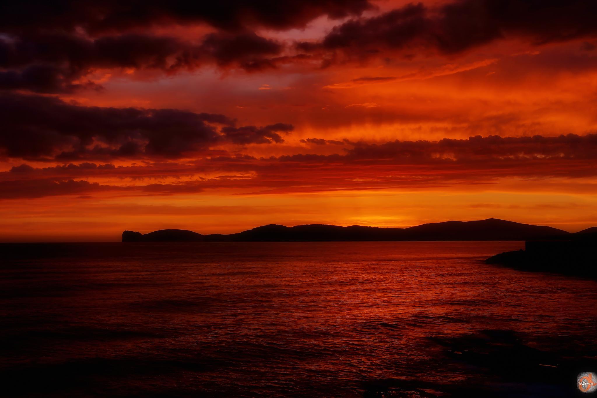 Sunset - Alghero by WSimone