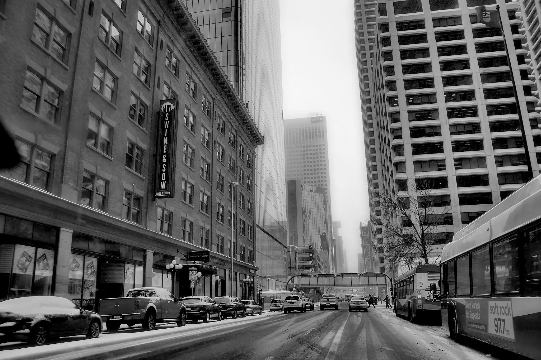 Avenue in Calgary by WSimone
