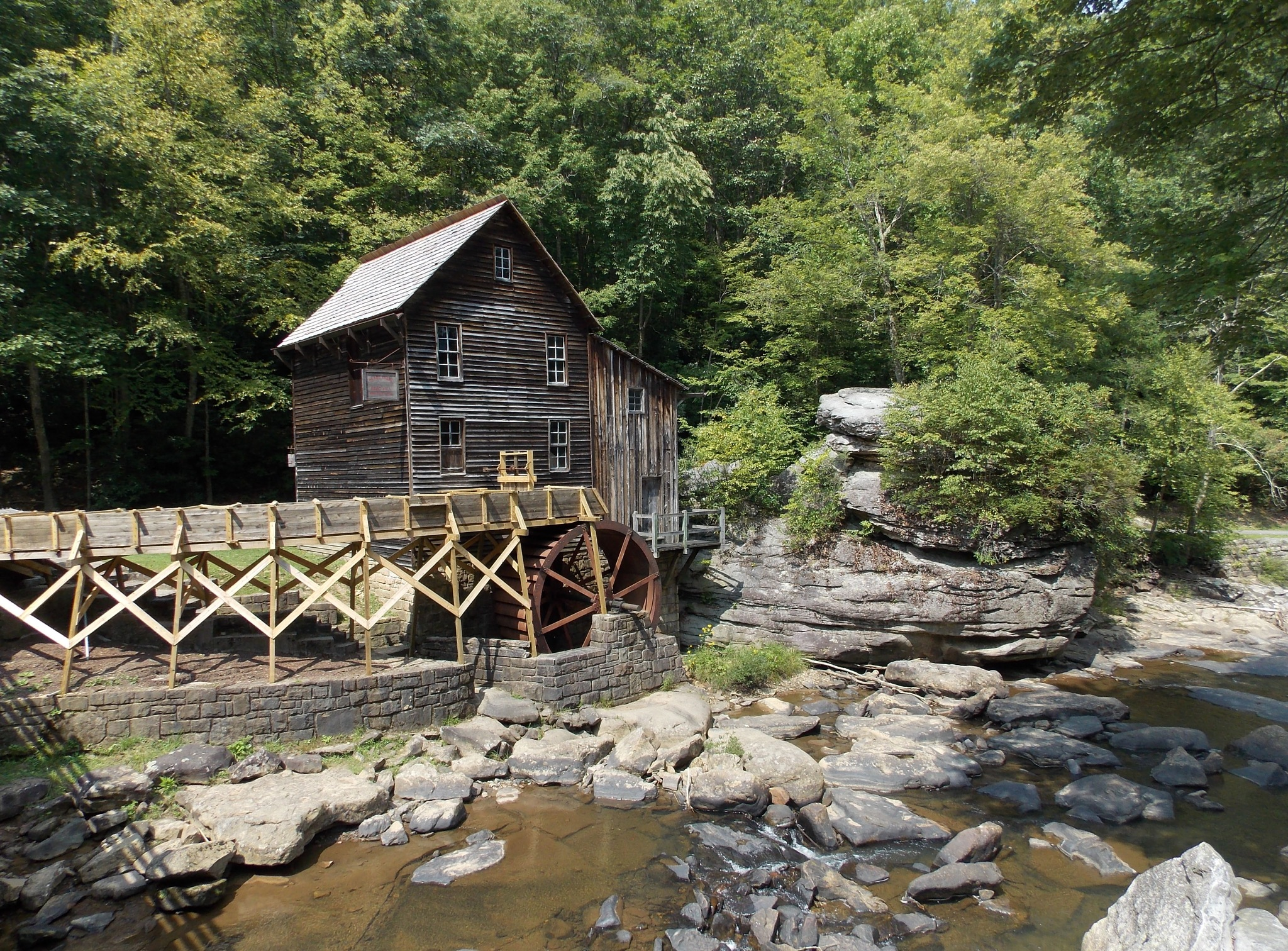Glade Creek Grist Mill — at Babcock State Park. by Victoria L. Smith