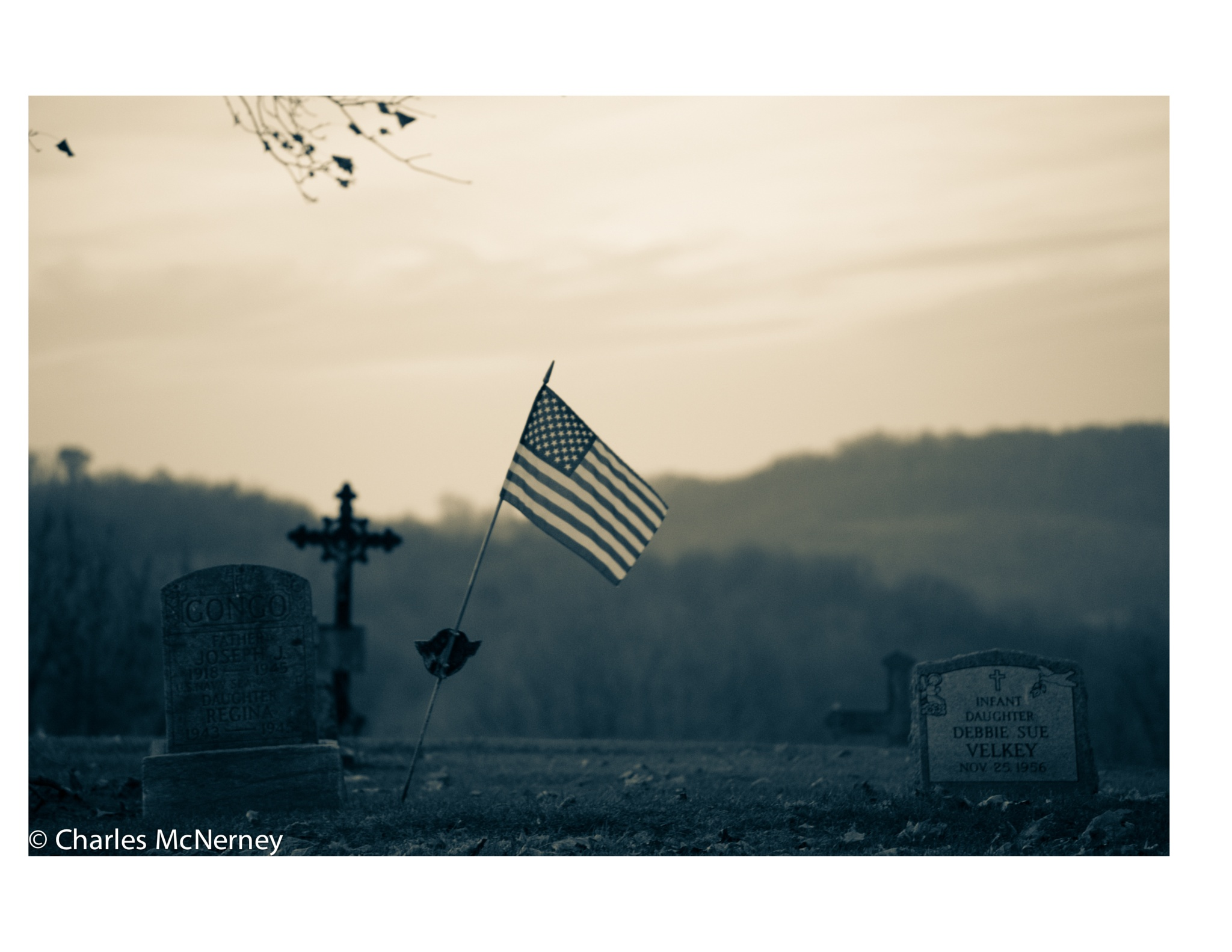 Dusk at the Cemetery by Charles D McNerney