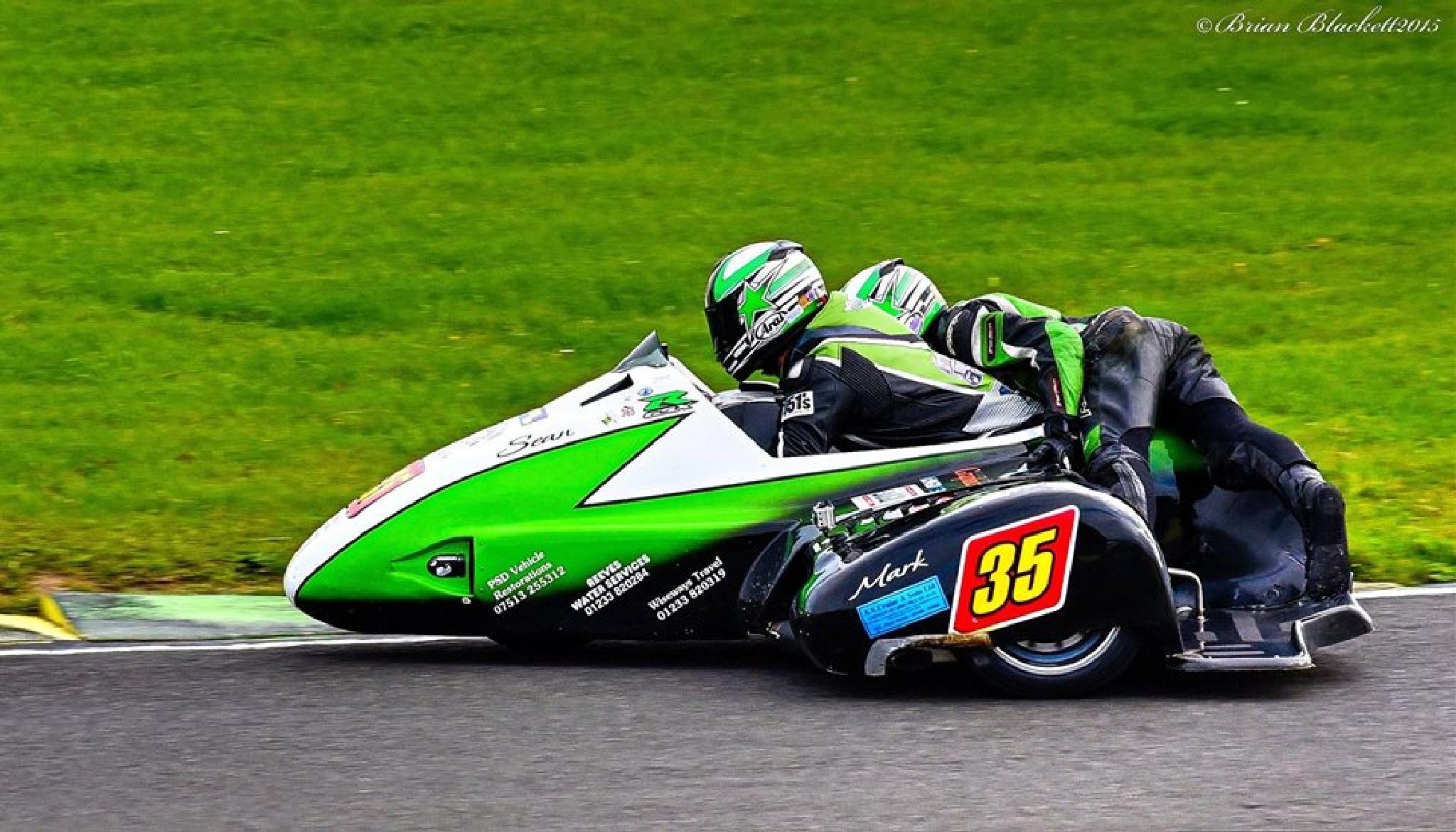 Sean Reeves/ Mark Wilkes LCR Suzuki Brithish F2 Sidecar Championships Croft 2015 by brianblackett