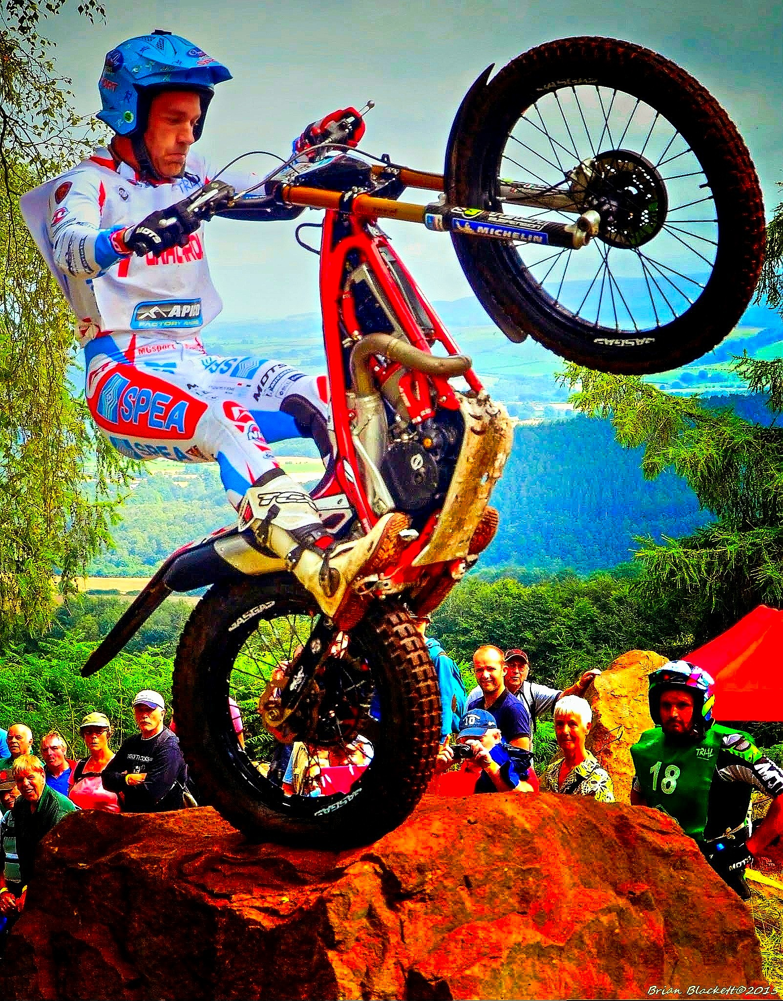 World Motorcycle Trials Action by brianblackett