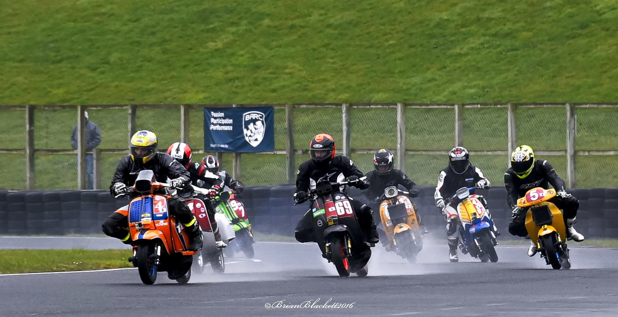 Scooter Racing Yesterday Croft Circuit North Yorkshire by brianblackett