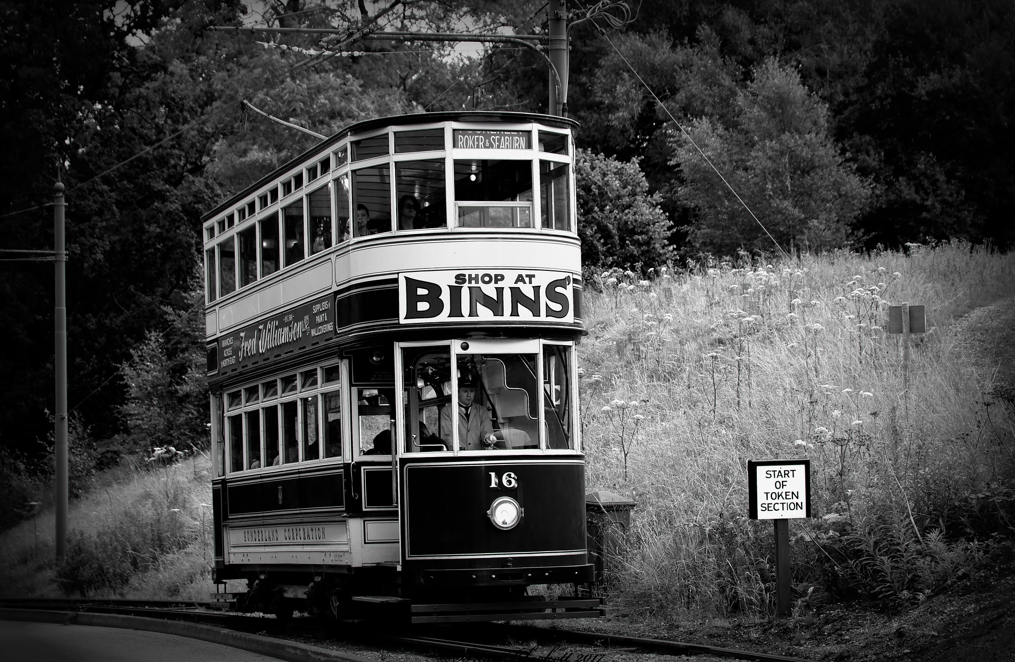 Old Tram. #blackandwhite by brianblackett