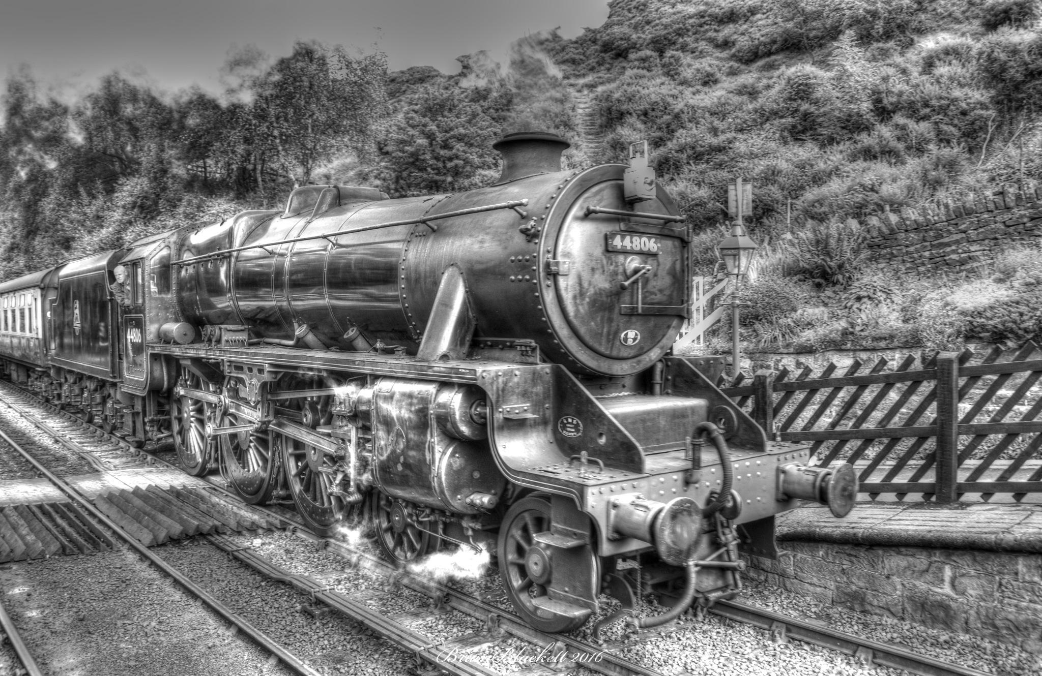 North Yorkshire Moors Railway  B/W by brianblackett