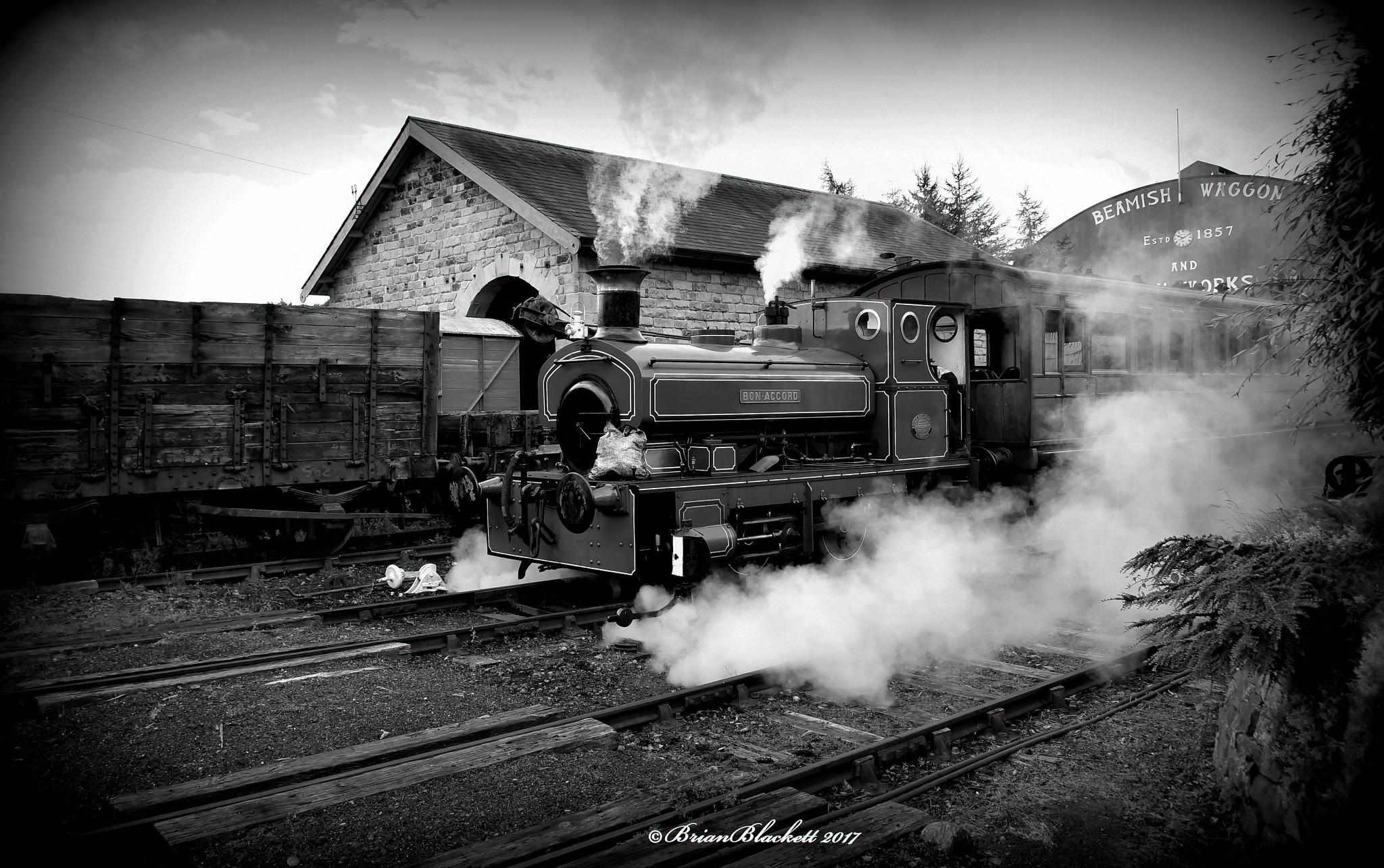 Steam Loco. #blackandwhite by brianblackett