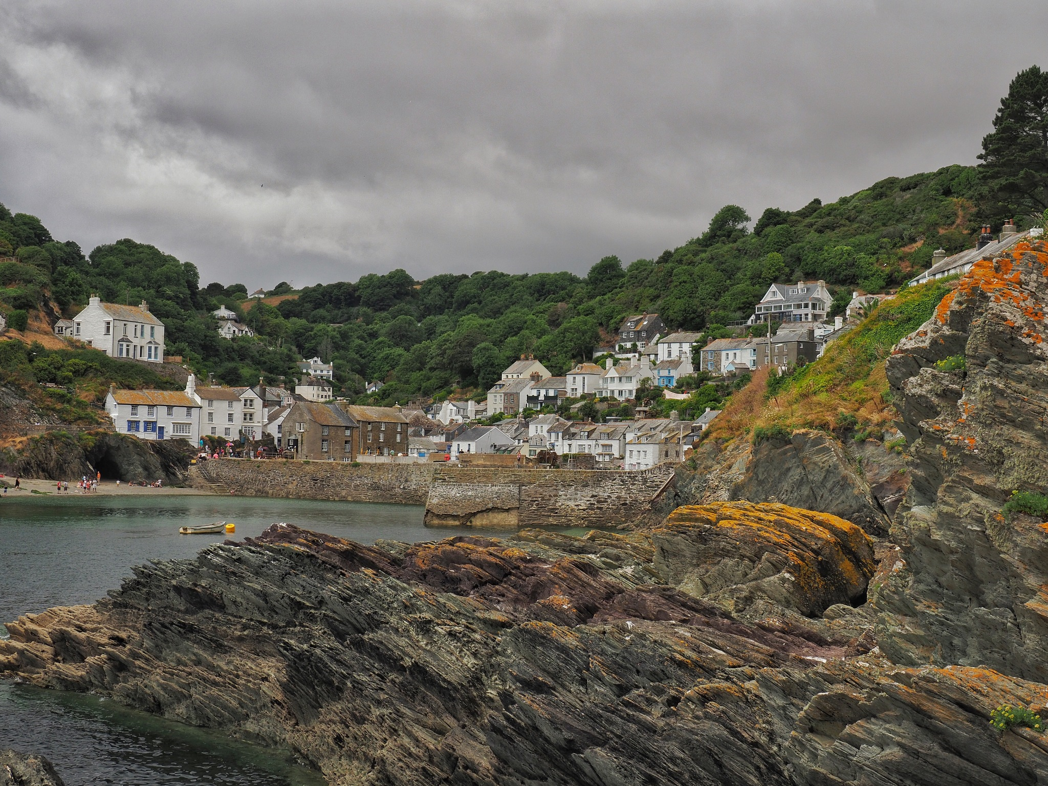 Polperro Harbour  by Derek Thompson
