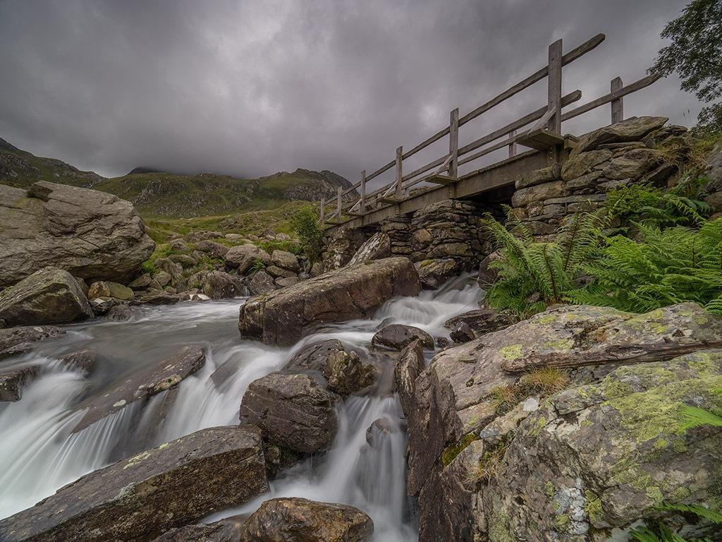 Bridge leading to Llyn-Ogwen---Snowdonia by Derek Thompson