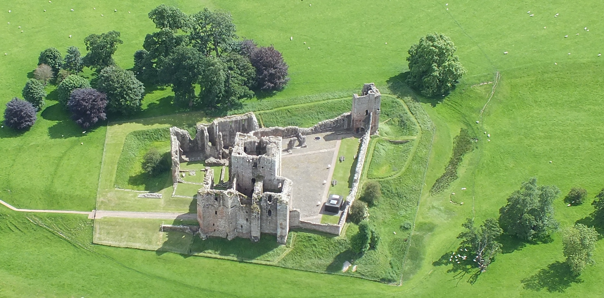 Brougham Castle From the Air by Gillian James