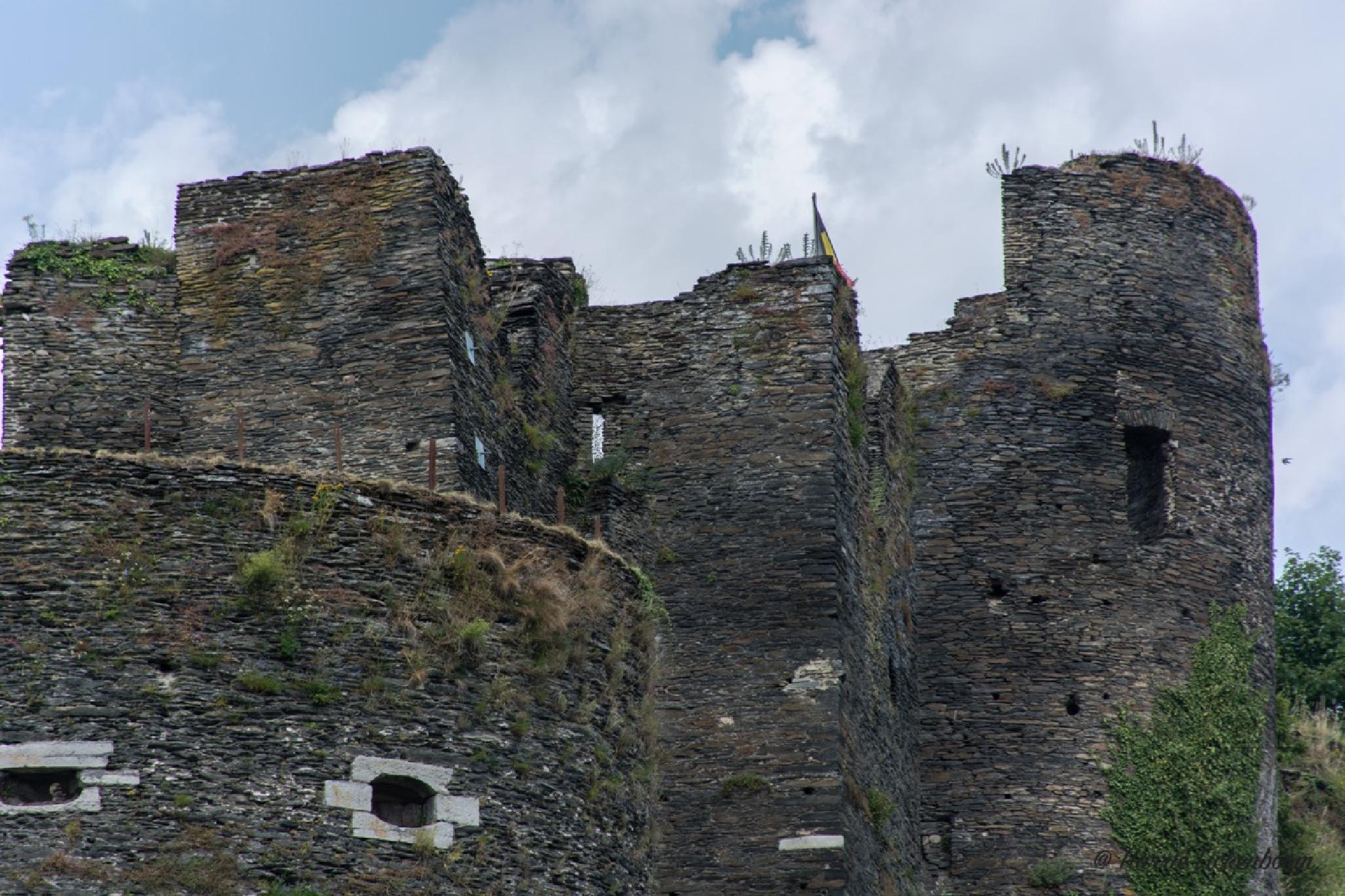 Le chateau Feodal. La Roche-en- Ardenne by Harrie Eickenboom.