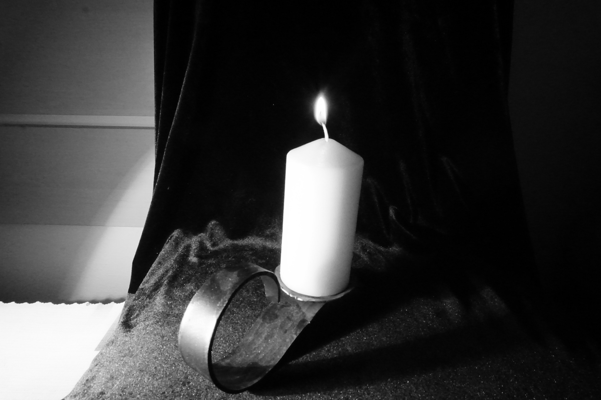 The candle of life begins to burn. by  robert pojedinec robert