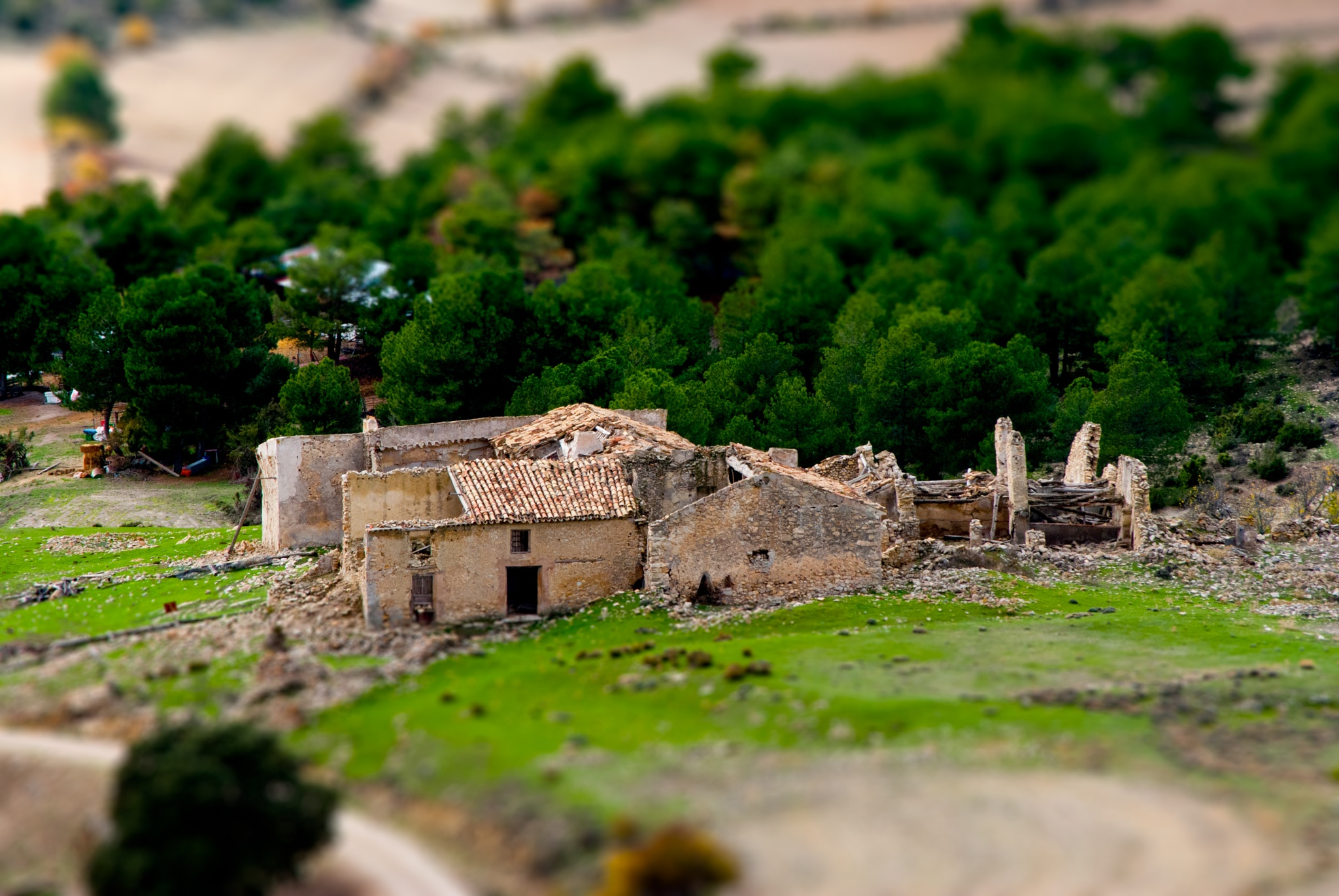 El cortijo. - Tilt-Shift. by MiguelOnPhotography