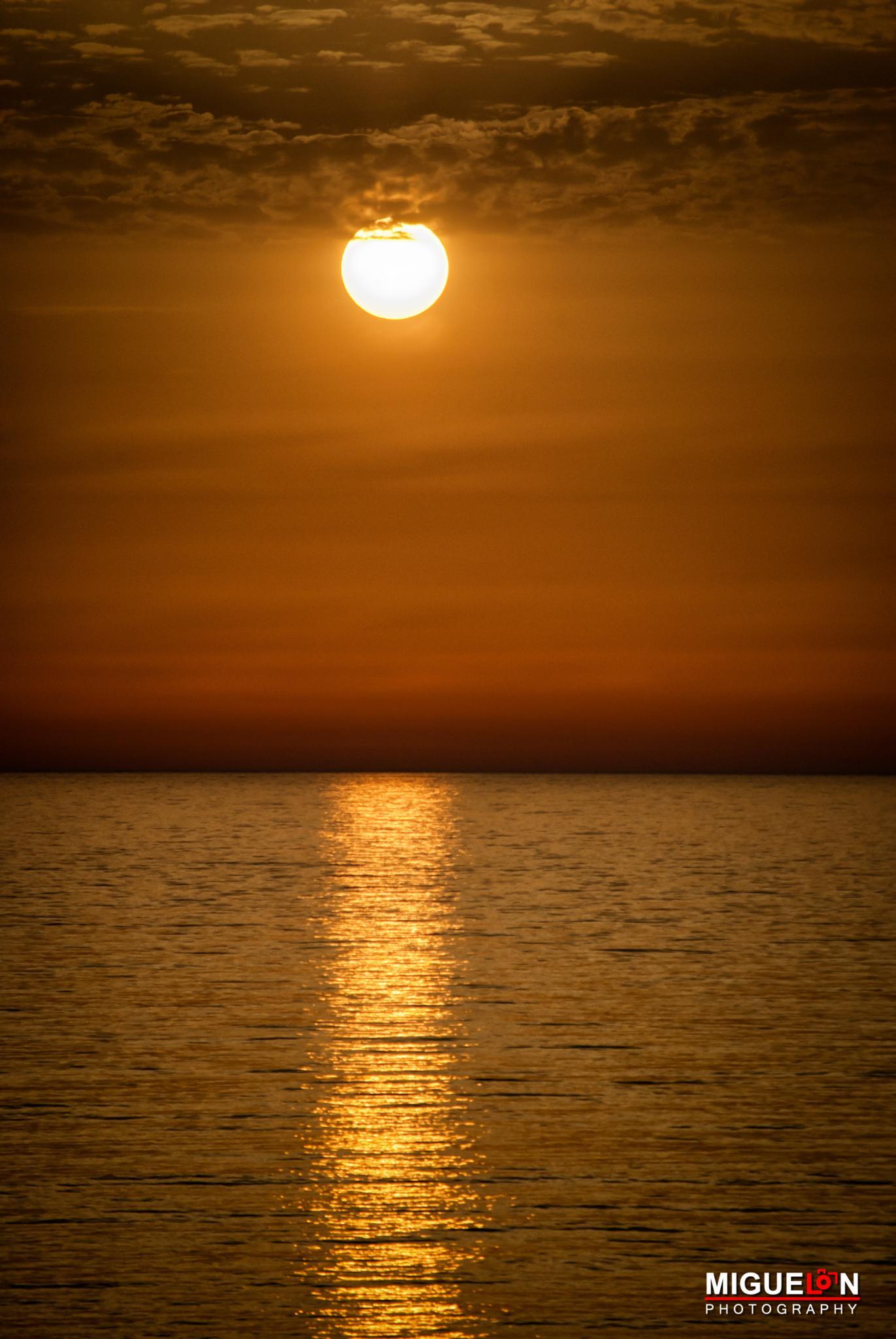 El sol y el mar. - Playa de la Barrosa - Cádiz by MiguelOnPhotography