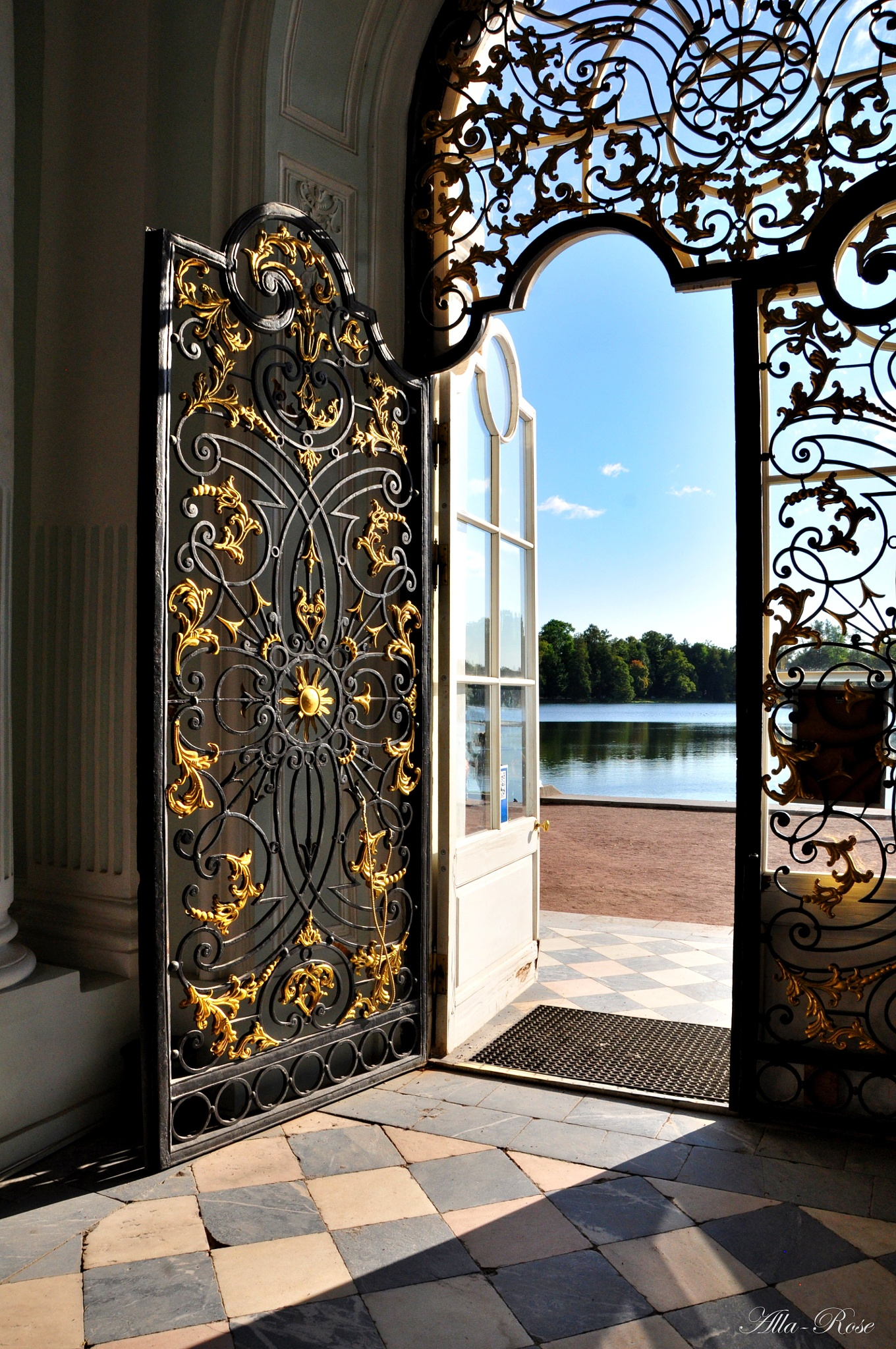 The door of the Grotto in the Catherine Park, Tsarskoye Selo,Pushkin by Alla-Rose