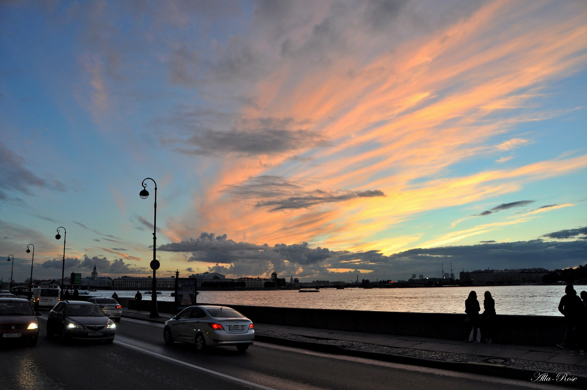 Sunset sky over St. Petersburg in August by Alla-Rose