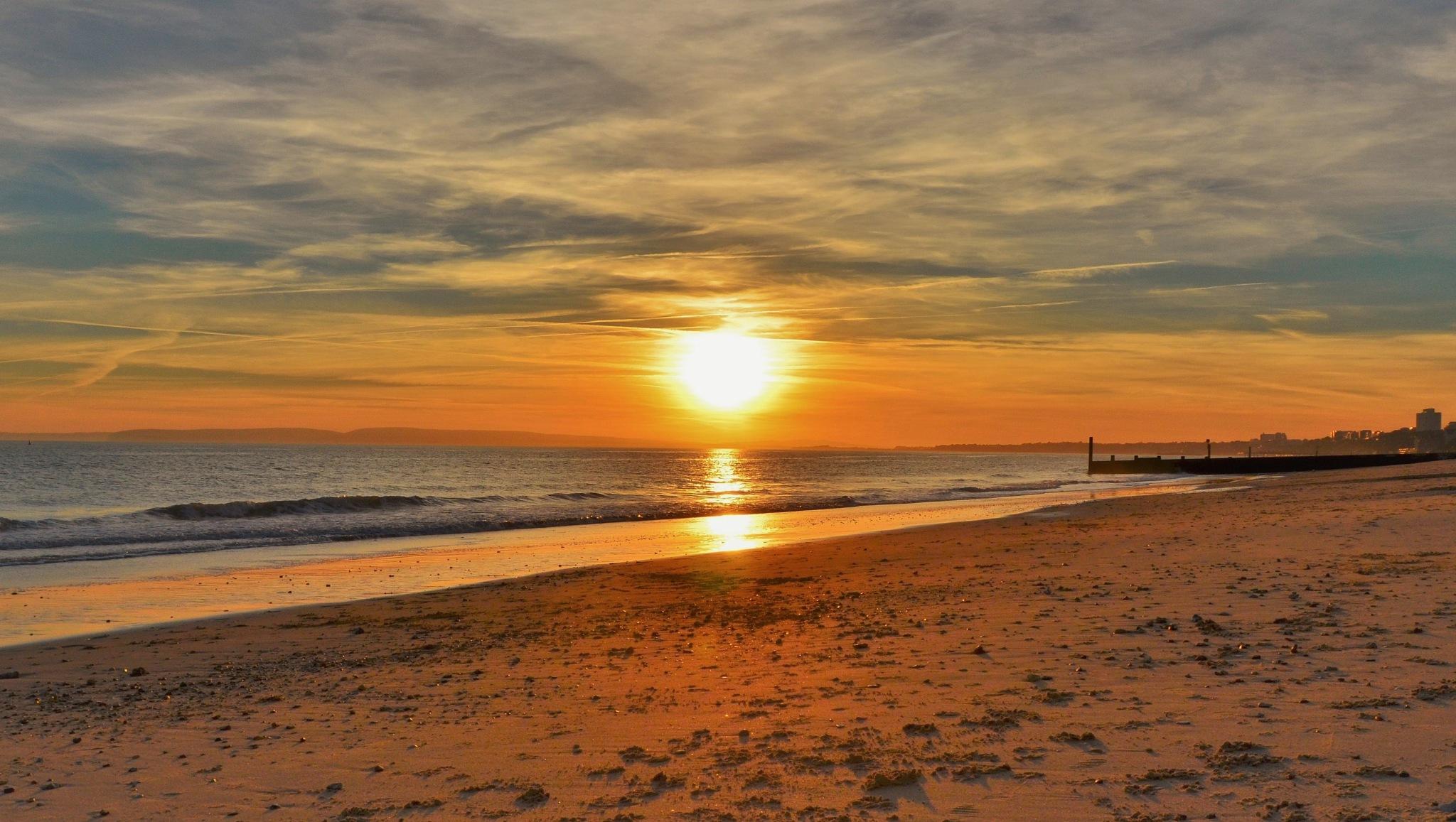 Bournemouth sundown by Helen Adams