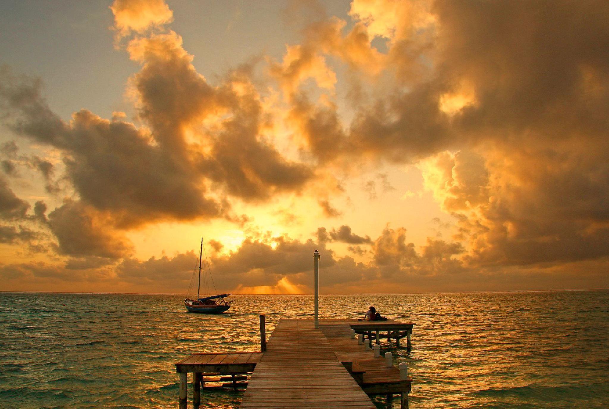 Sunrise San Pedro Belize by Hal Stedman