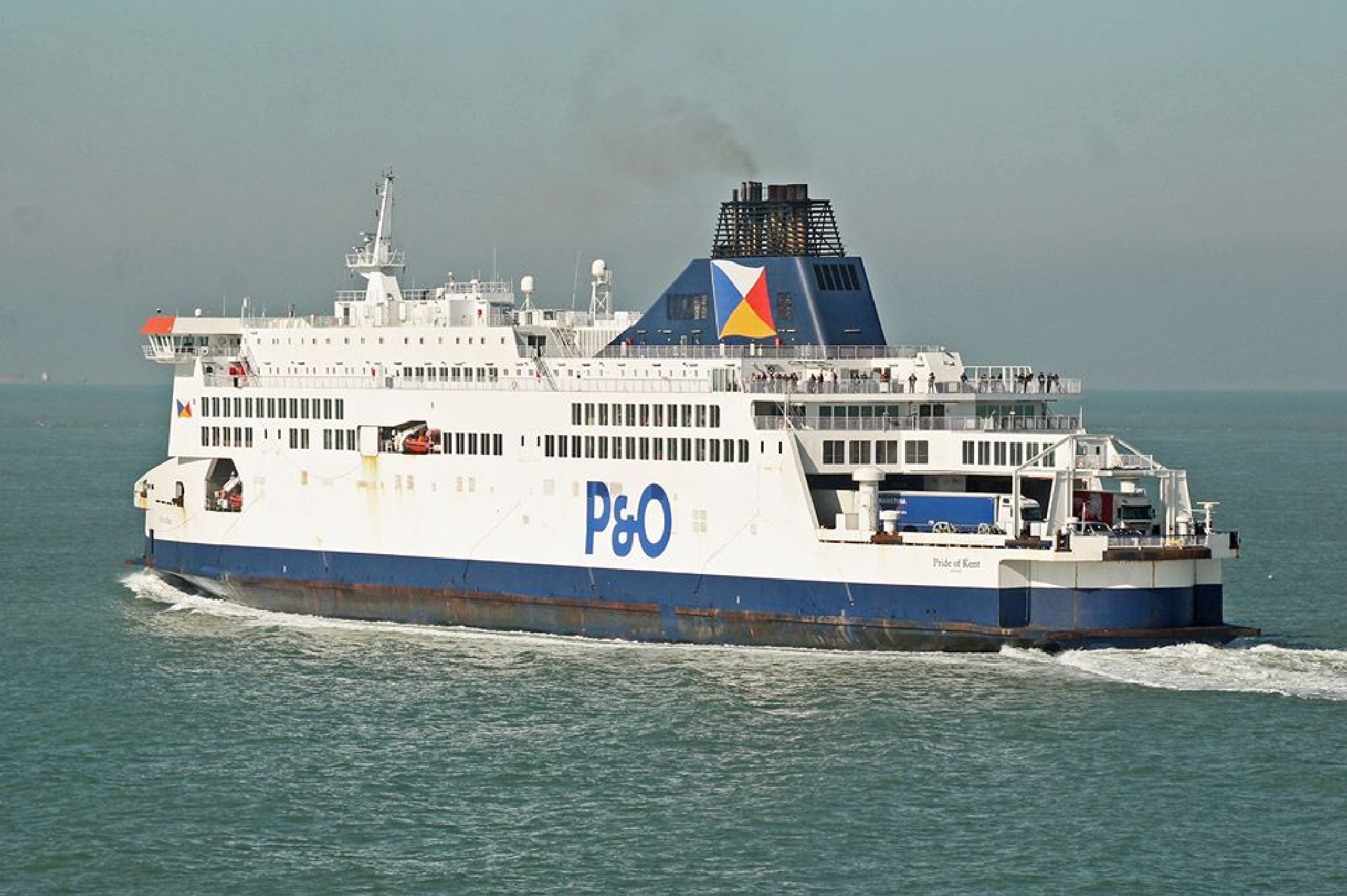 PRIDE OF KENT DEPARTS CALAIS by mikewoodland21