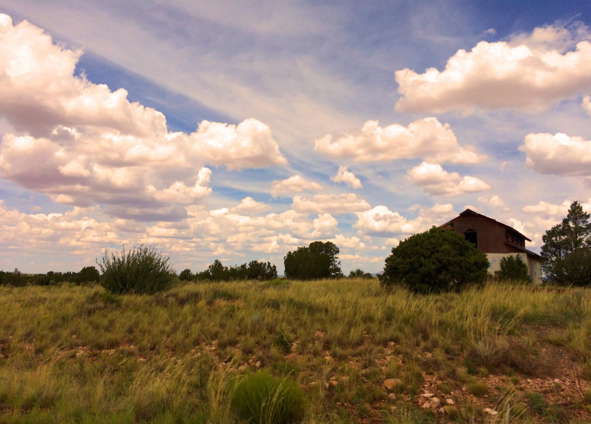 Photo in Landscape #clouds #abandoned #barn #outdoor #sky #field #valle #arizona