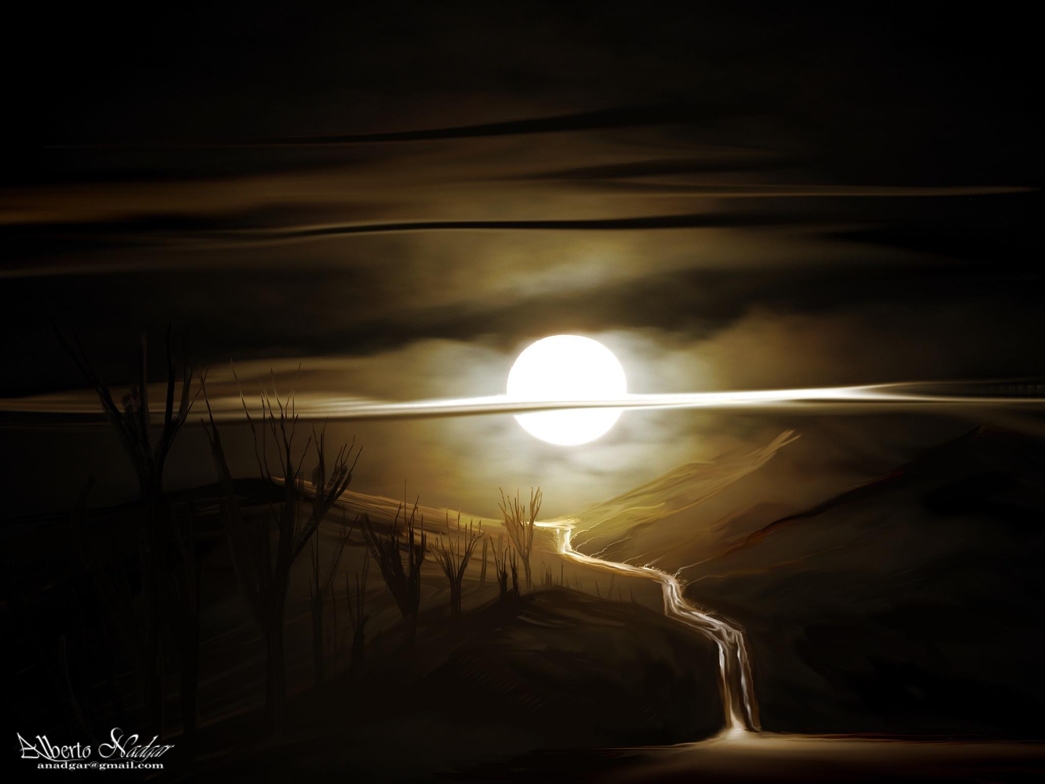 luna en la cumbre by Anadgar03