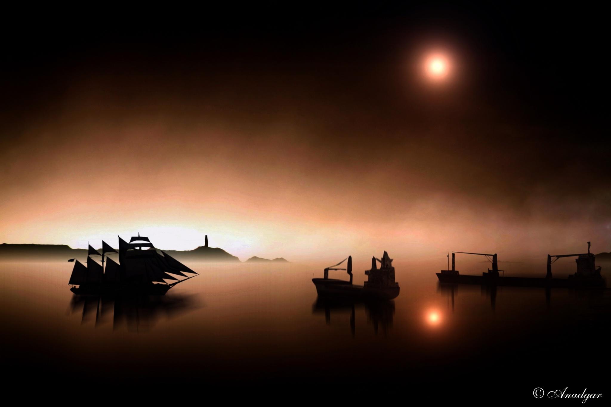 en la penumbra navega by Anadgar03
