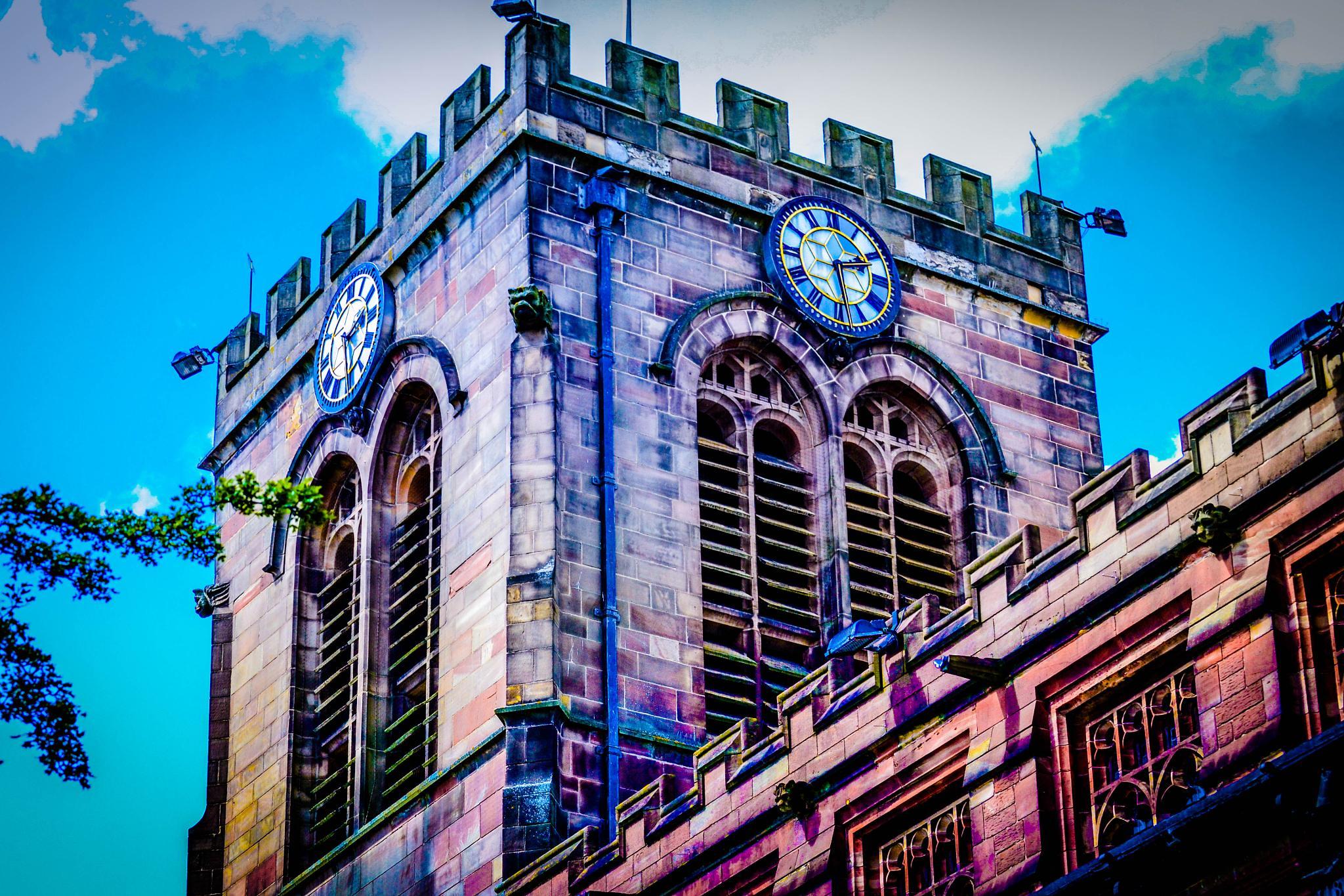 Leigh Parish Church Tower by Darren Green