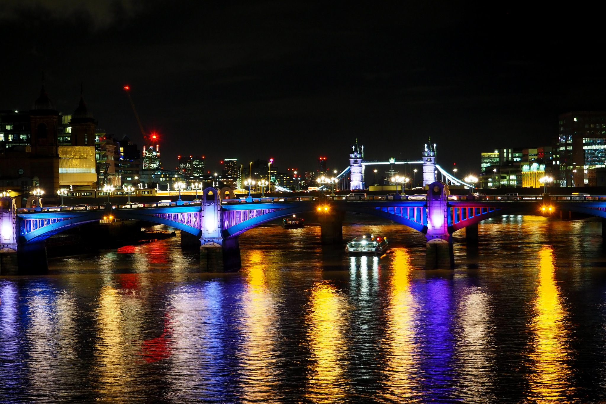 Tower bridge in the distance. by jeremy1960