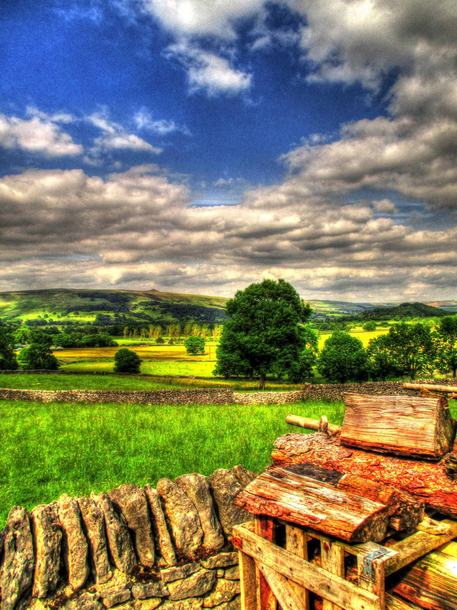 view of hope valley from pindale by steve simpson