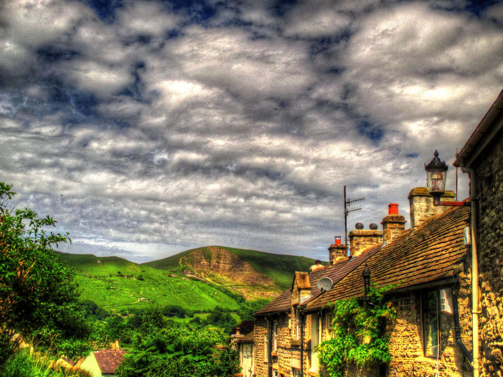 view of mam tor from pindale castleton by steve simpson