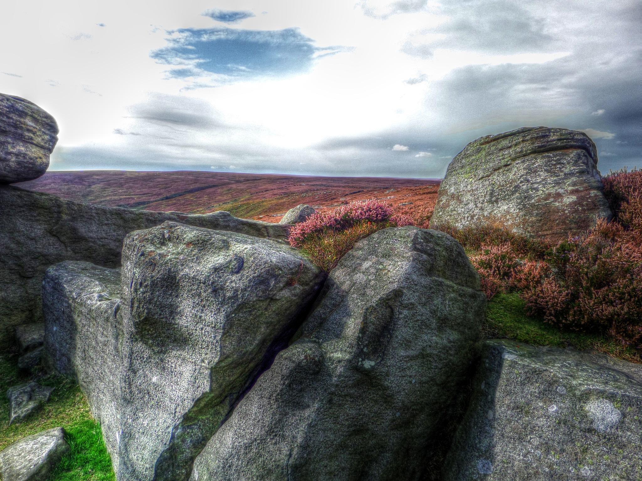 rocks on the moor by steve simpson