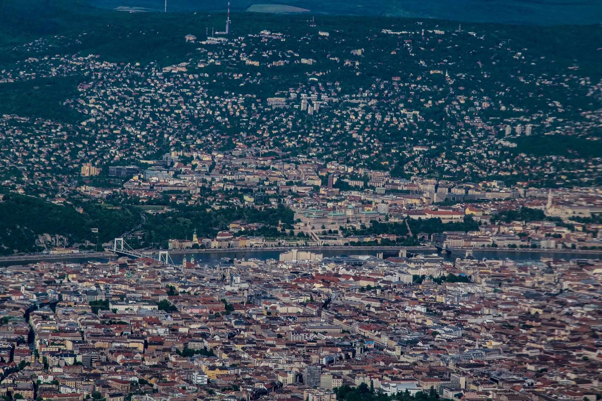 Budapest from the air by Péter Hóbor