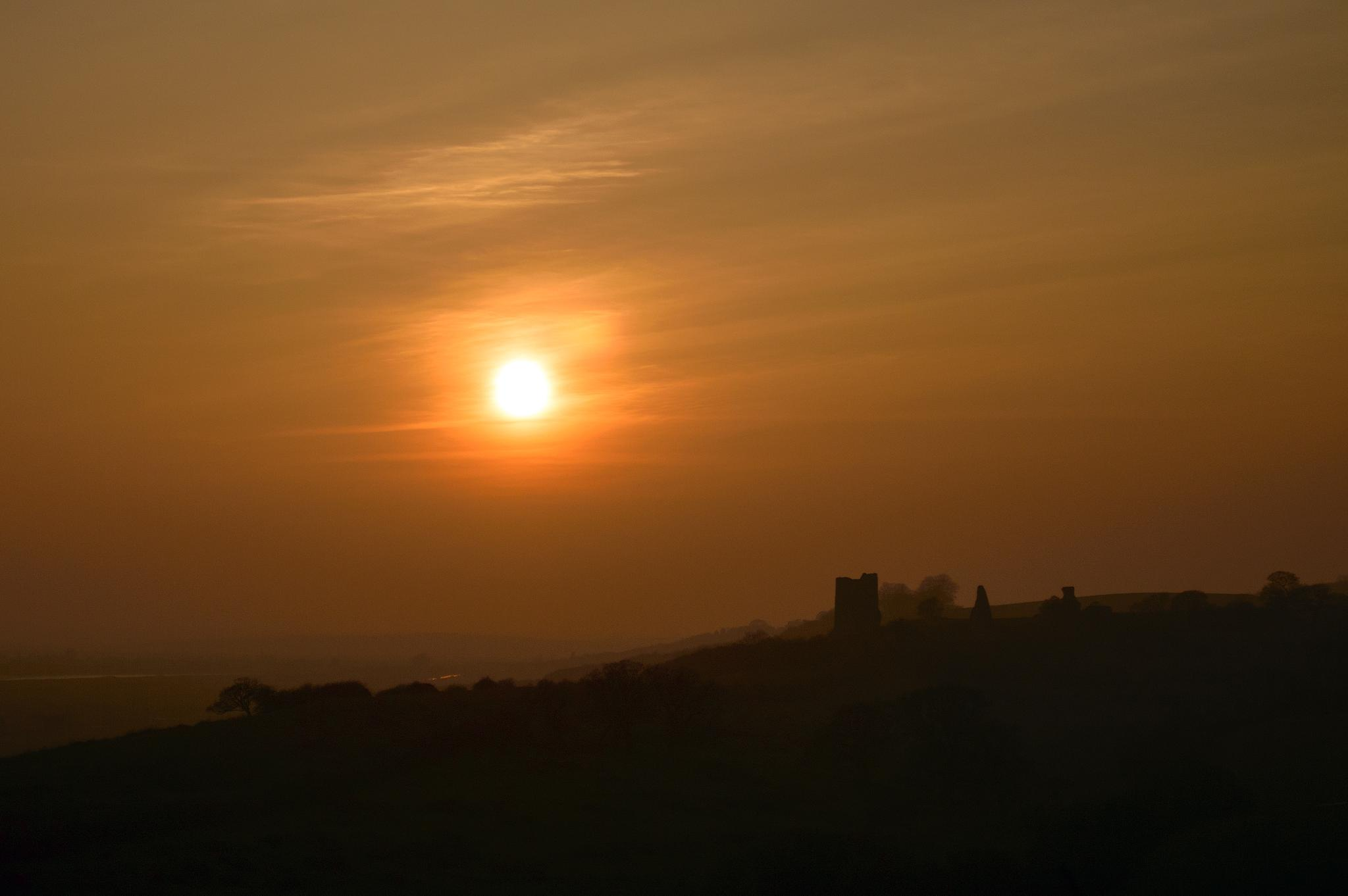 Winter Sun Over Hadleigh Castle by Darrin Mayo