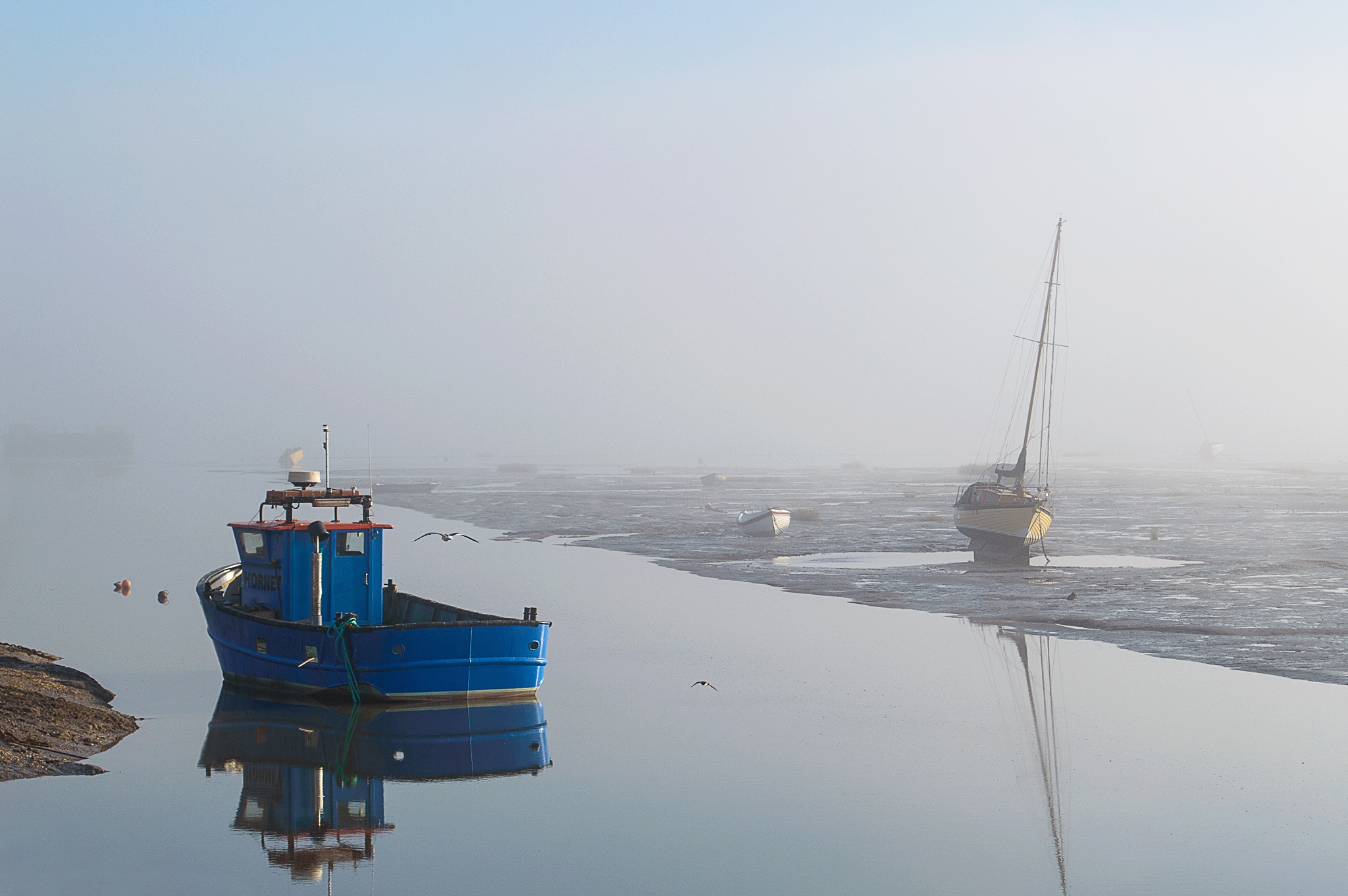 Misty Morning in Old Leigh by Darrin Mayo