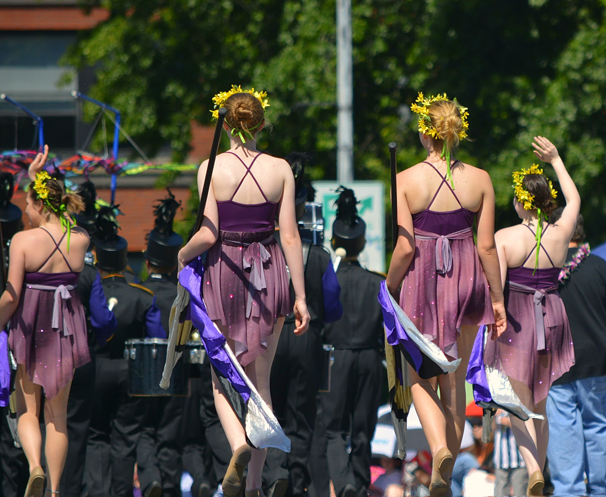Flag Girls Rear View by pscottwong