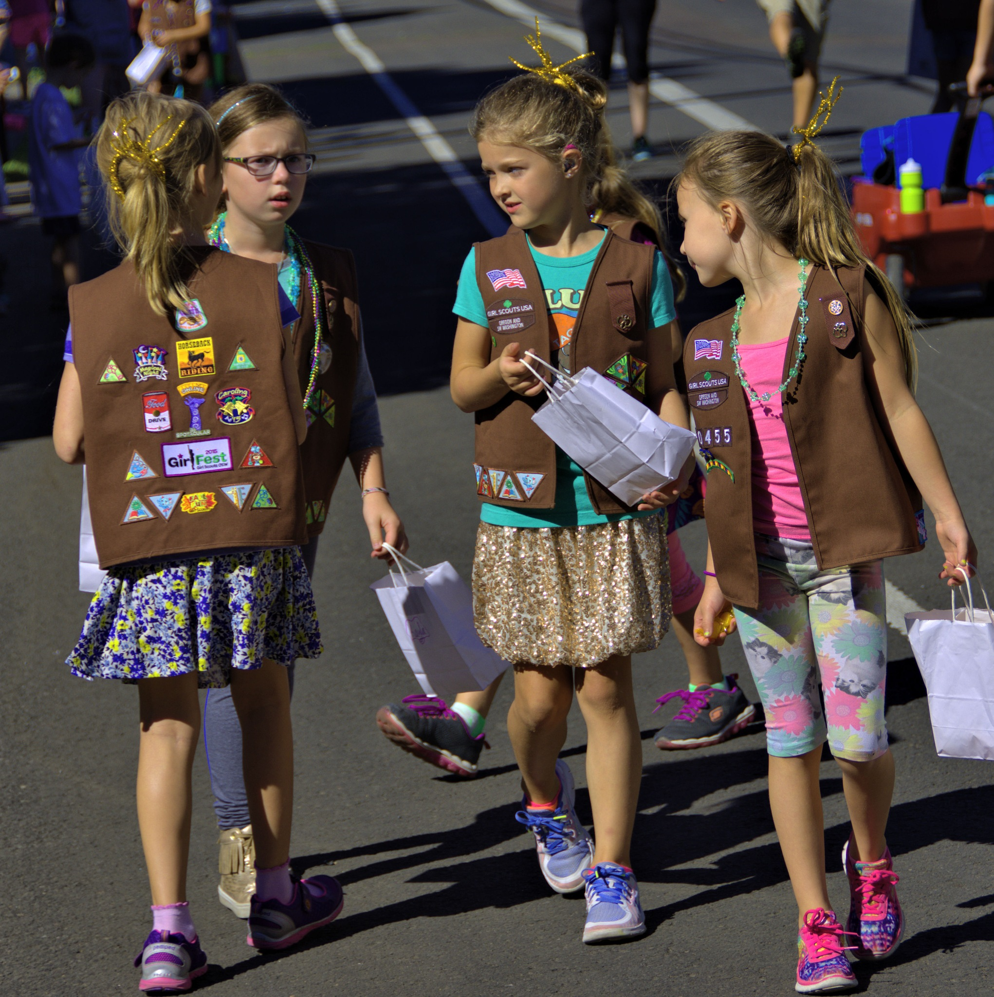 Girl Scouts On Parade by pscottwong