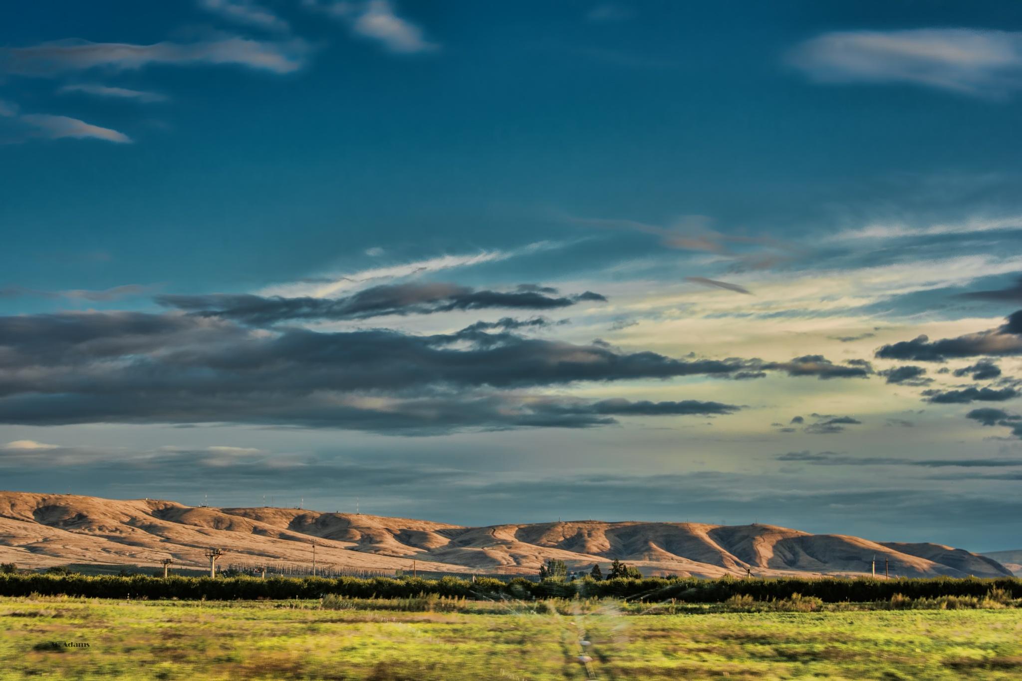 Blue sky by Mike Adams