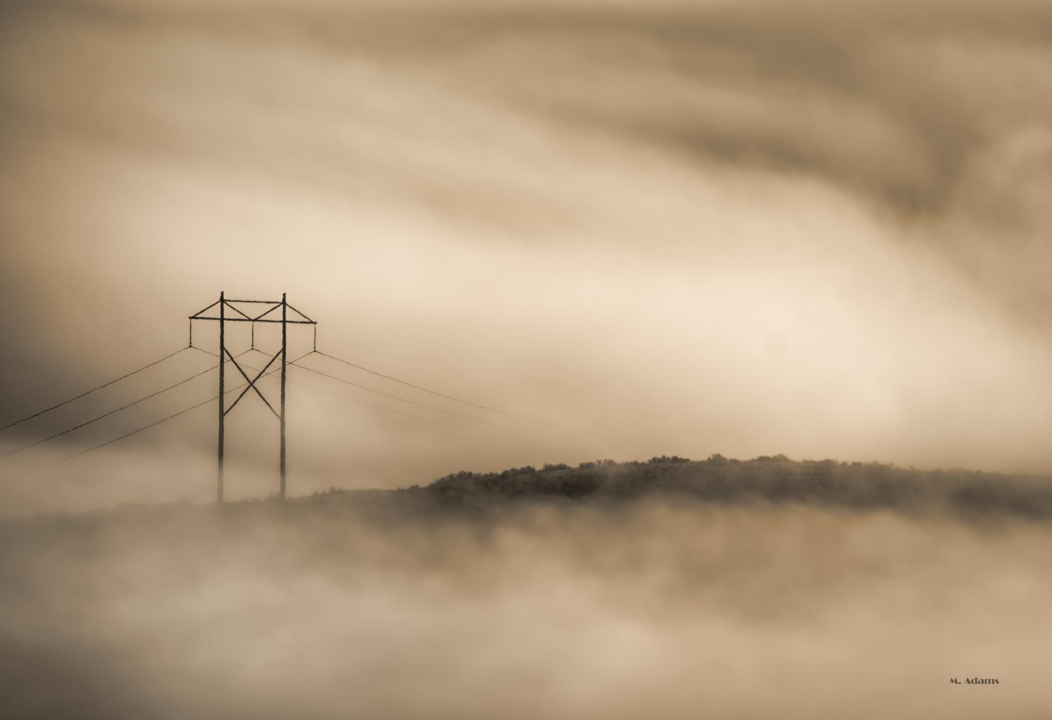 foggy hill by Mike Adams
