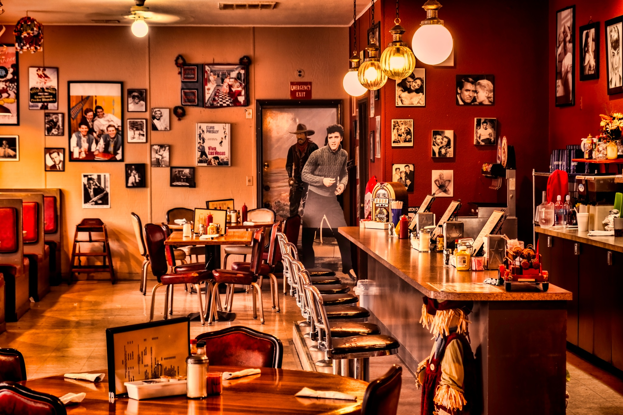 Small town Diner  by Mike Adams