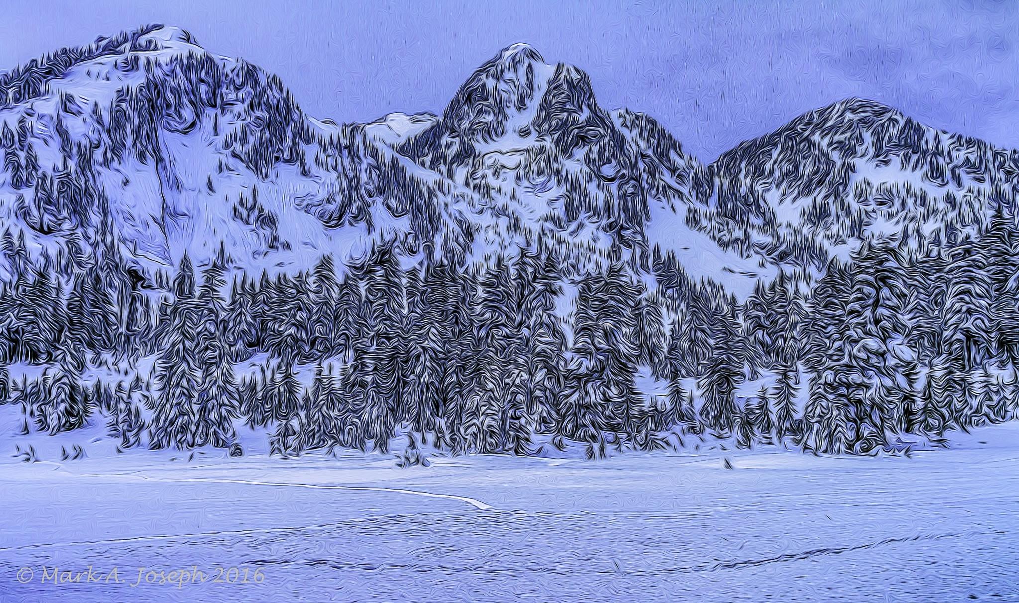 Snowy Mt. Baker II by Mark Joseph