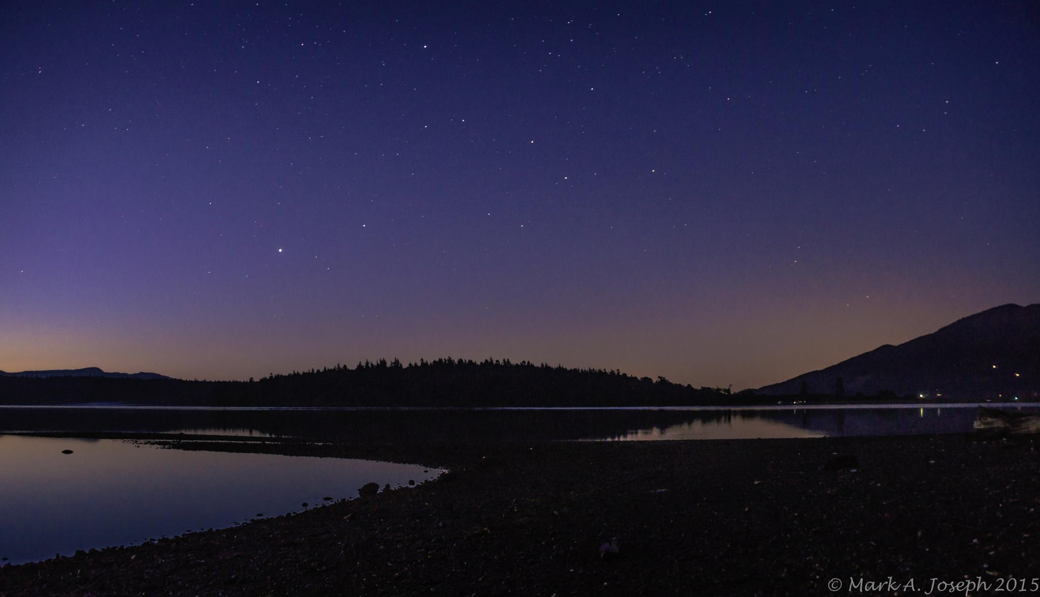 Photo in Landscape #sunrise #beach #sand #waves #stars #islands #bellingham bay #portage island