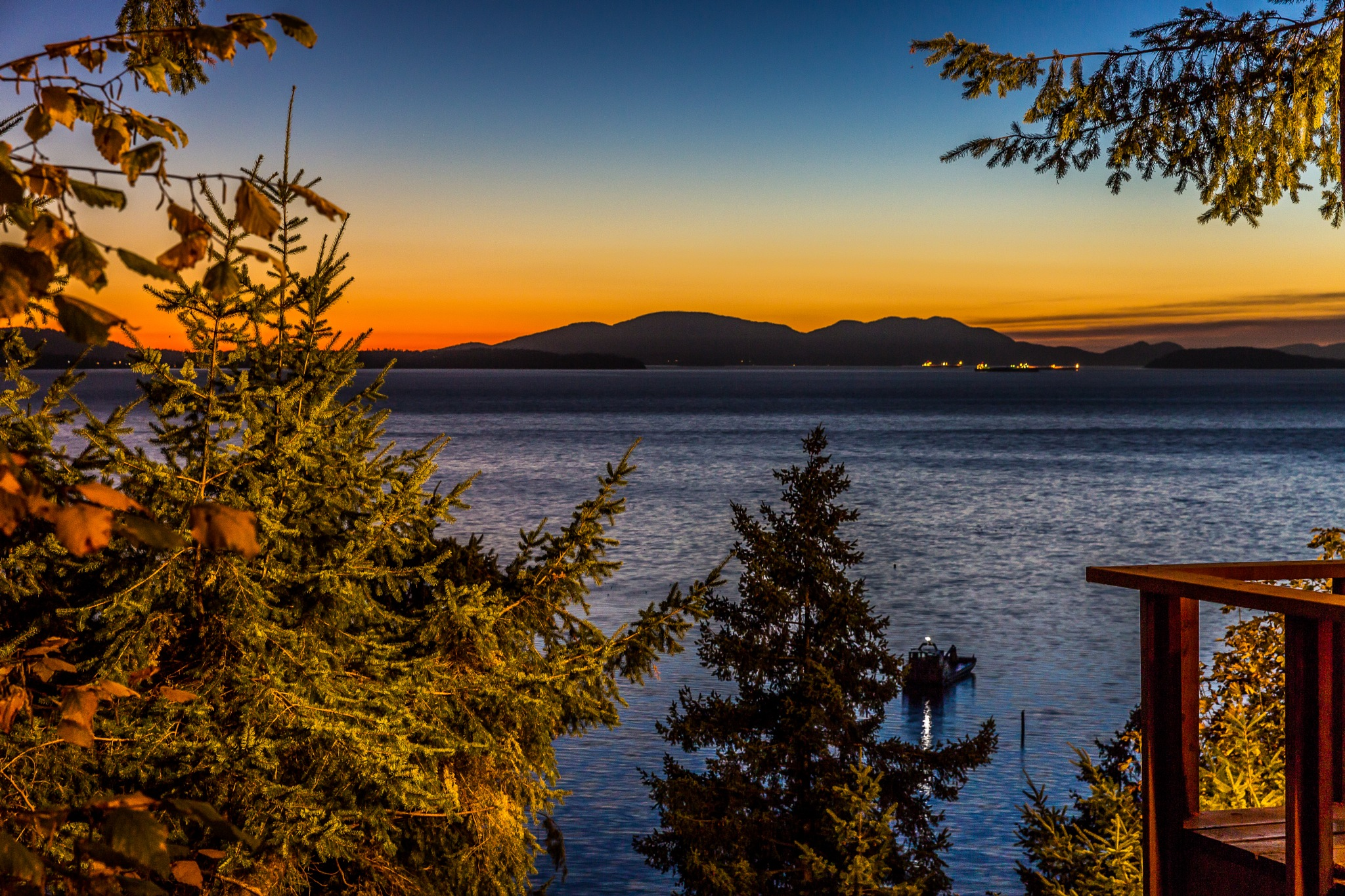 Chuckanut Sunset by Mark Joseph