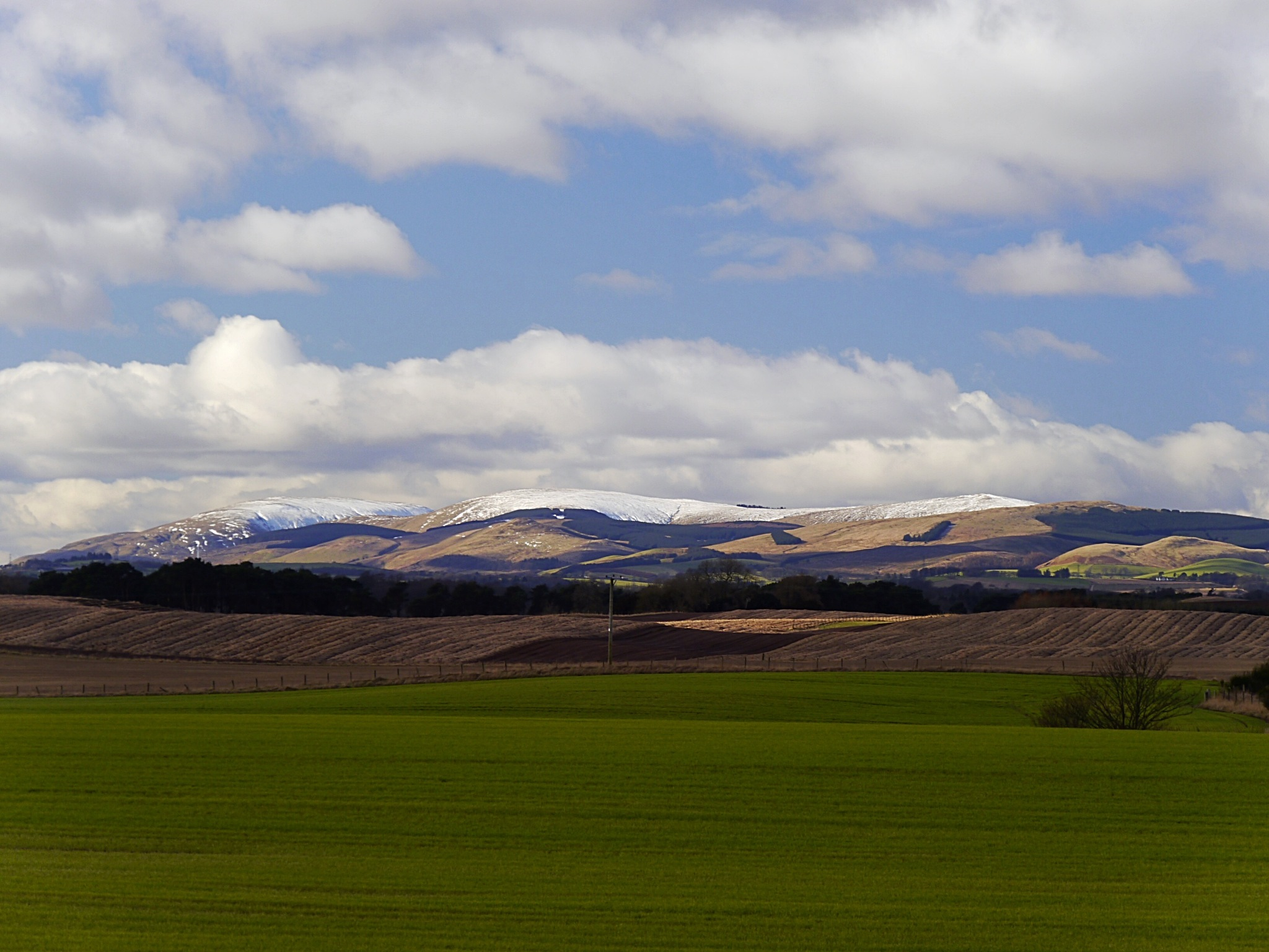 Snow on the hills  by GeorgeABooth