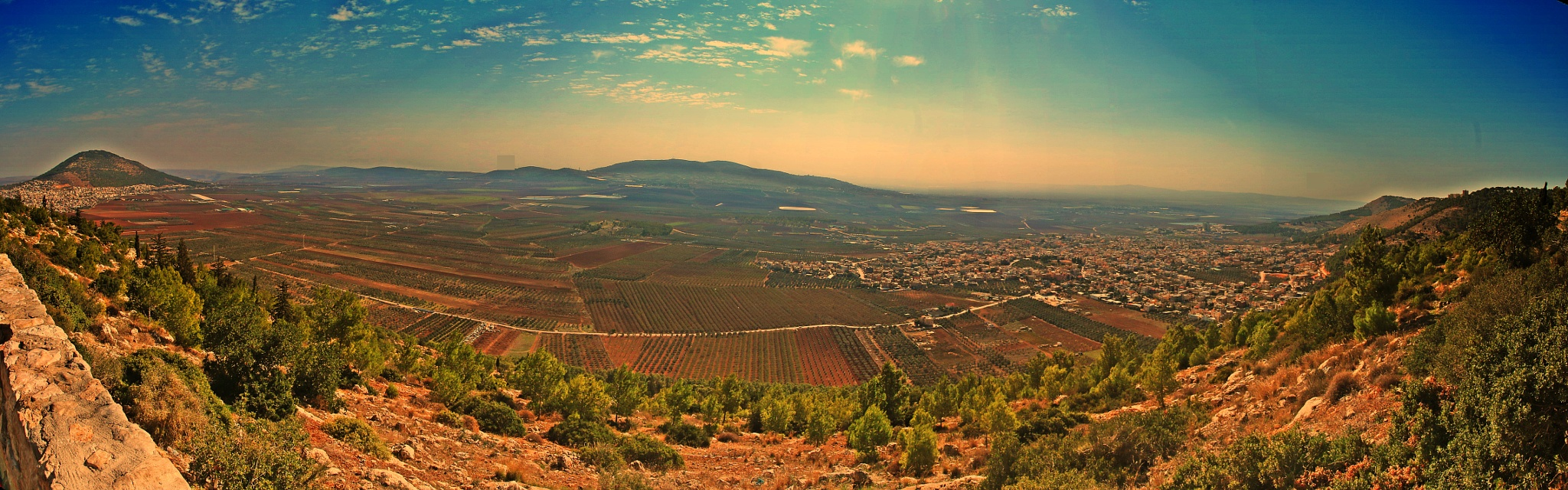 Panorama ....Between Mount Tabor to Mount Precipice. by ITZIK YOTVAT
