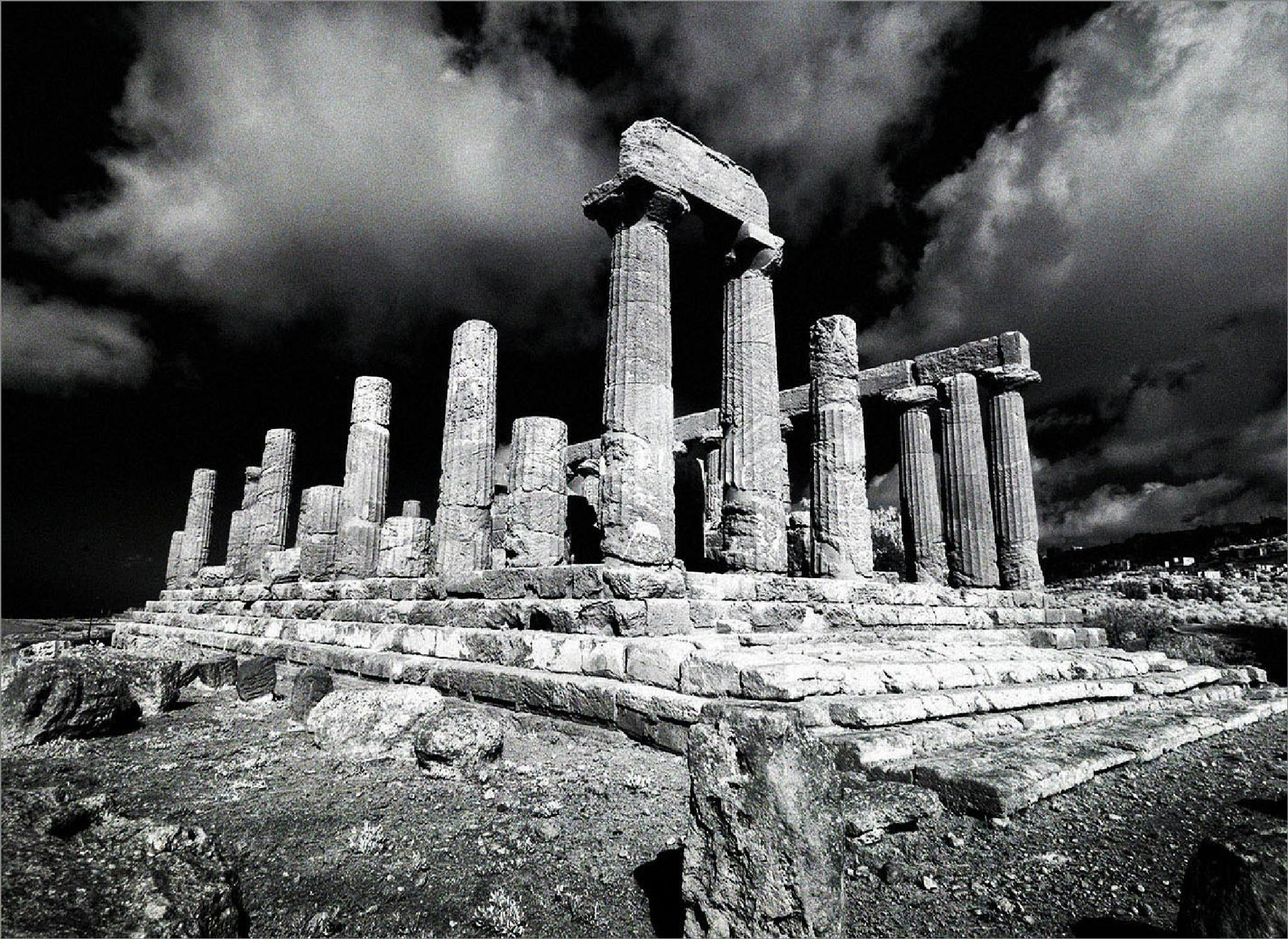 Agrigento, Sicily, infrared image by CliveRowley