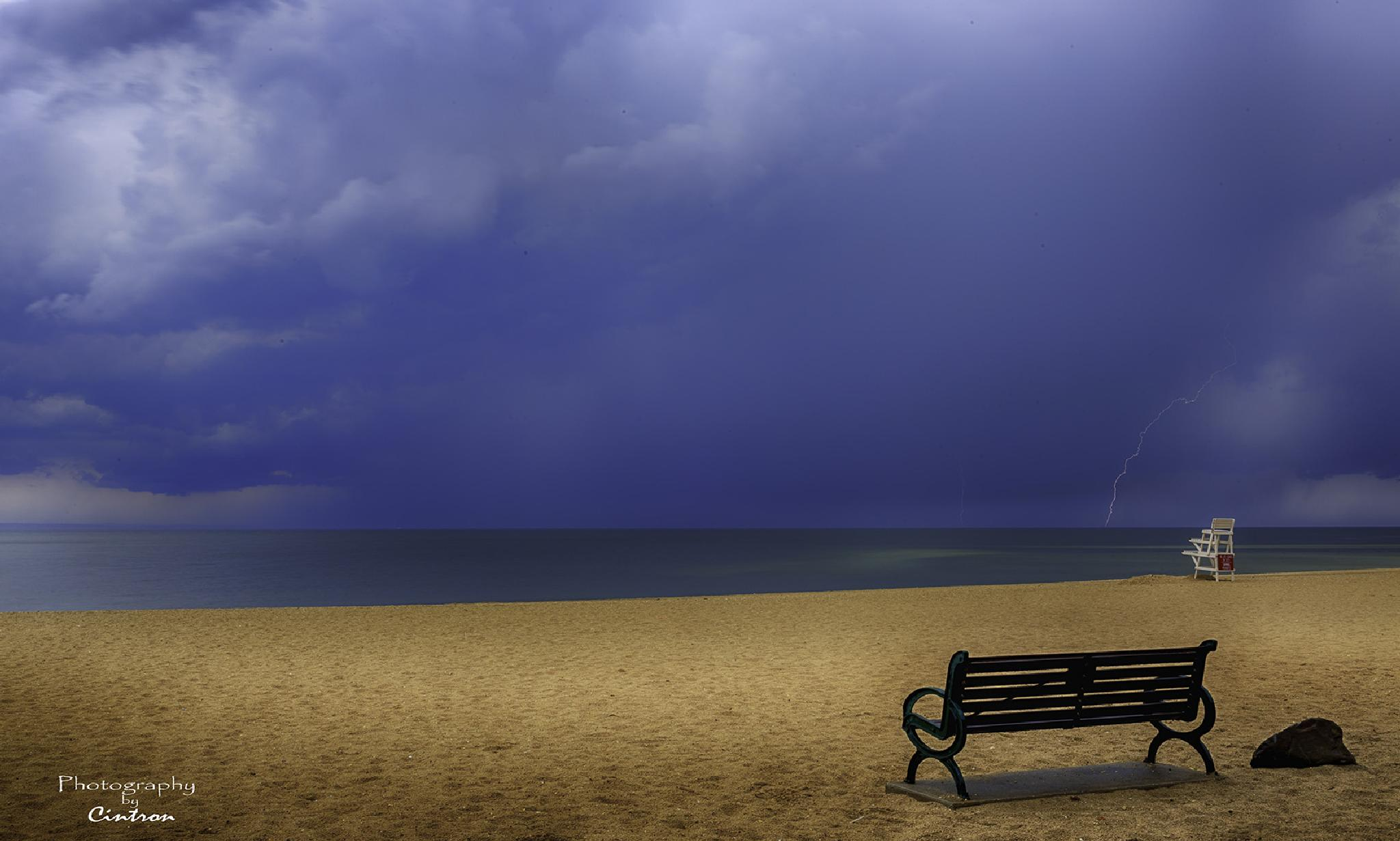 Lightning at Crab Meadow Beach #2 by Photographybycintron