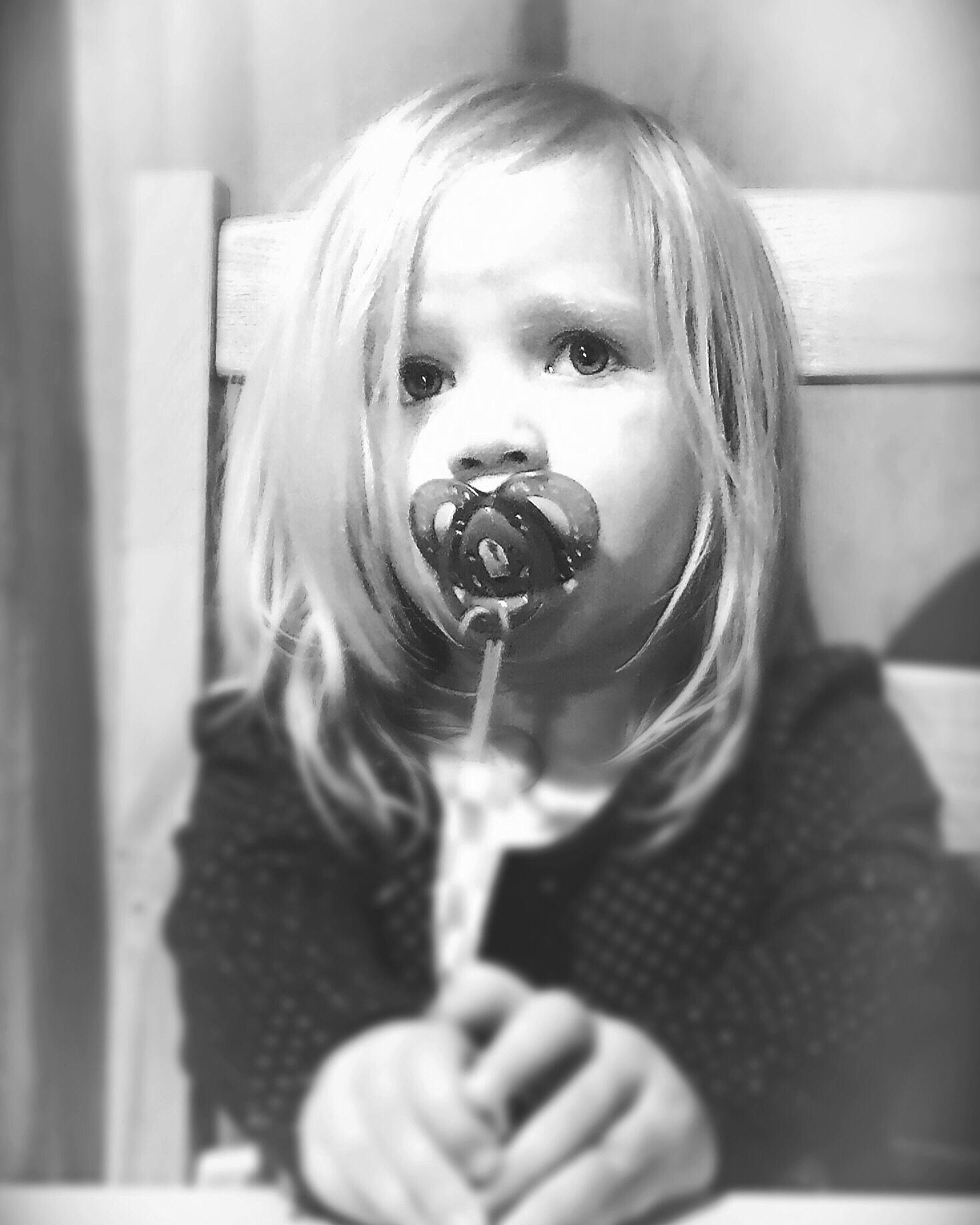 Portrait girl child family blackandwhite  by mikemcmonkey