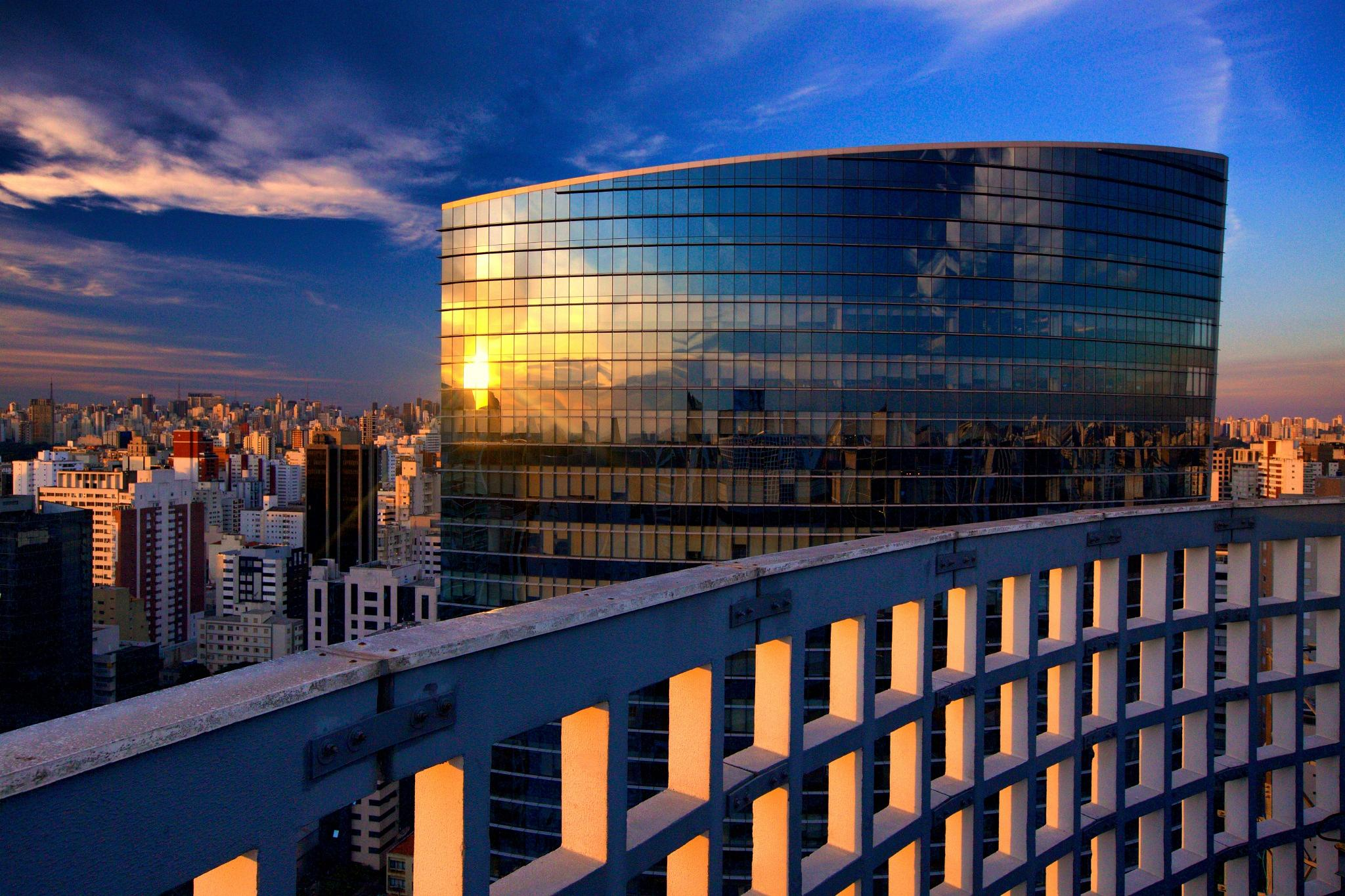 Photo in Cityscape #roof #sunset #cityscape #building #saopaulo