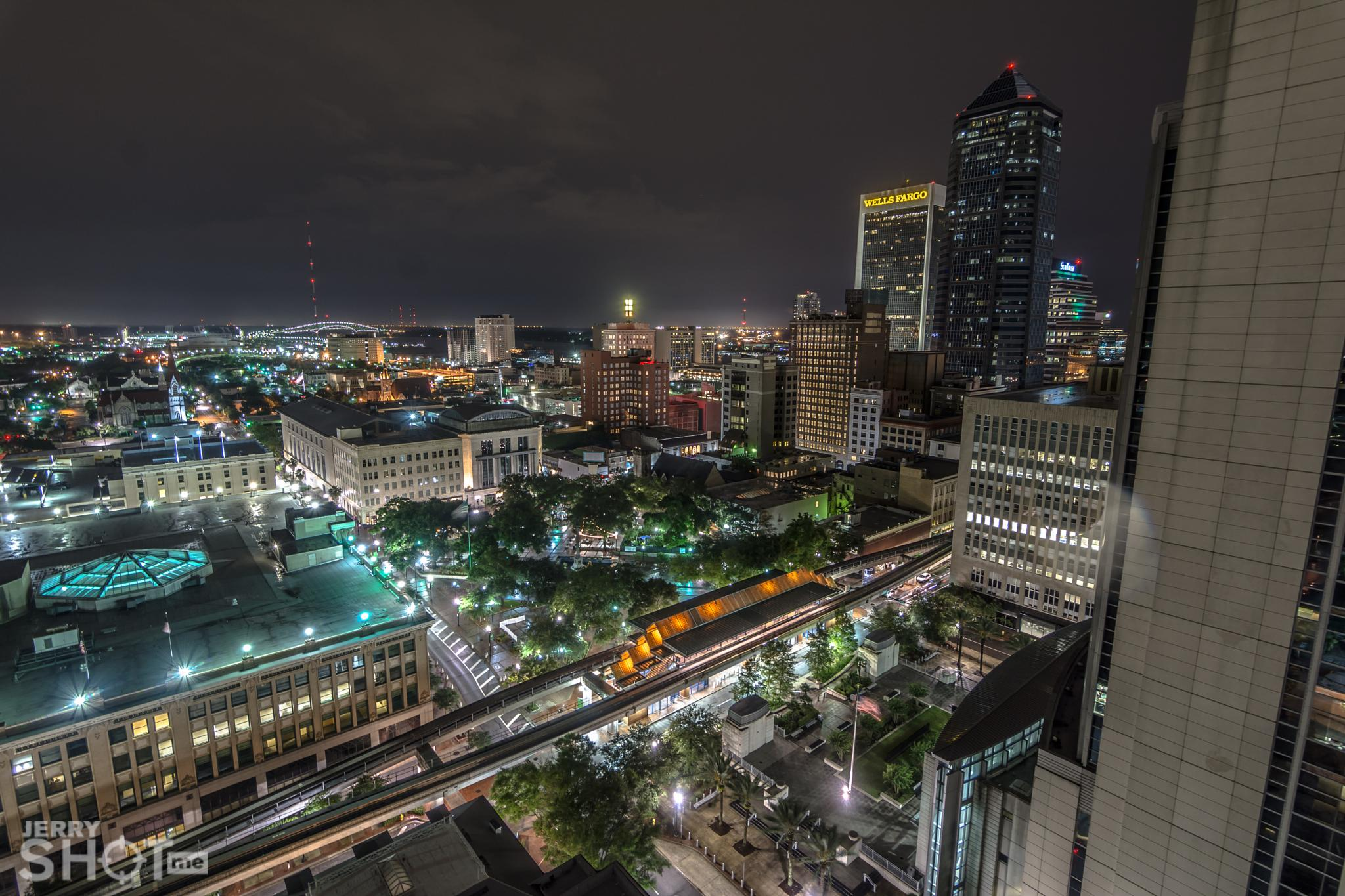Photo in Architecture #jacksonville #skyscrapper #hemming park #duval #904 #downtown #city lights